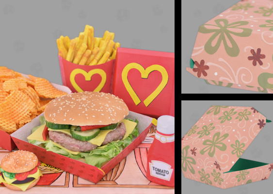 "Picture of the best Hamburger in the World created by Team ""BBQ Wiesel"". The Sandwich is housed in a Designer box made by Veronika Vetter. The Packaging with the Camouflage pattern can be purchased at Macy's Herald Square"