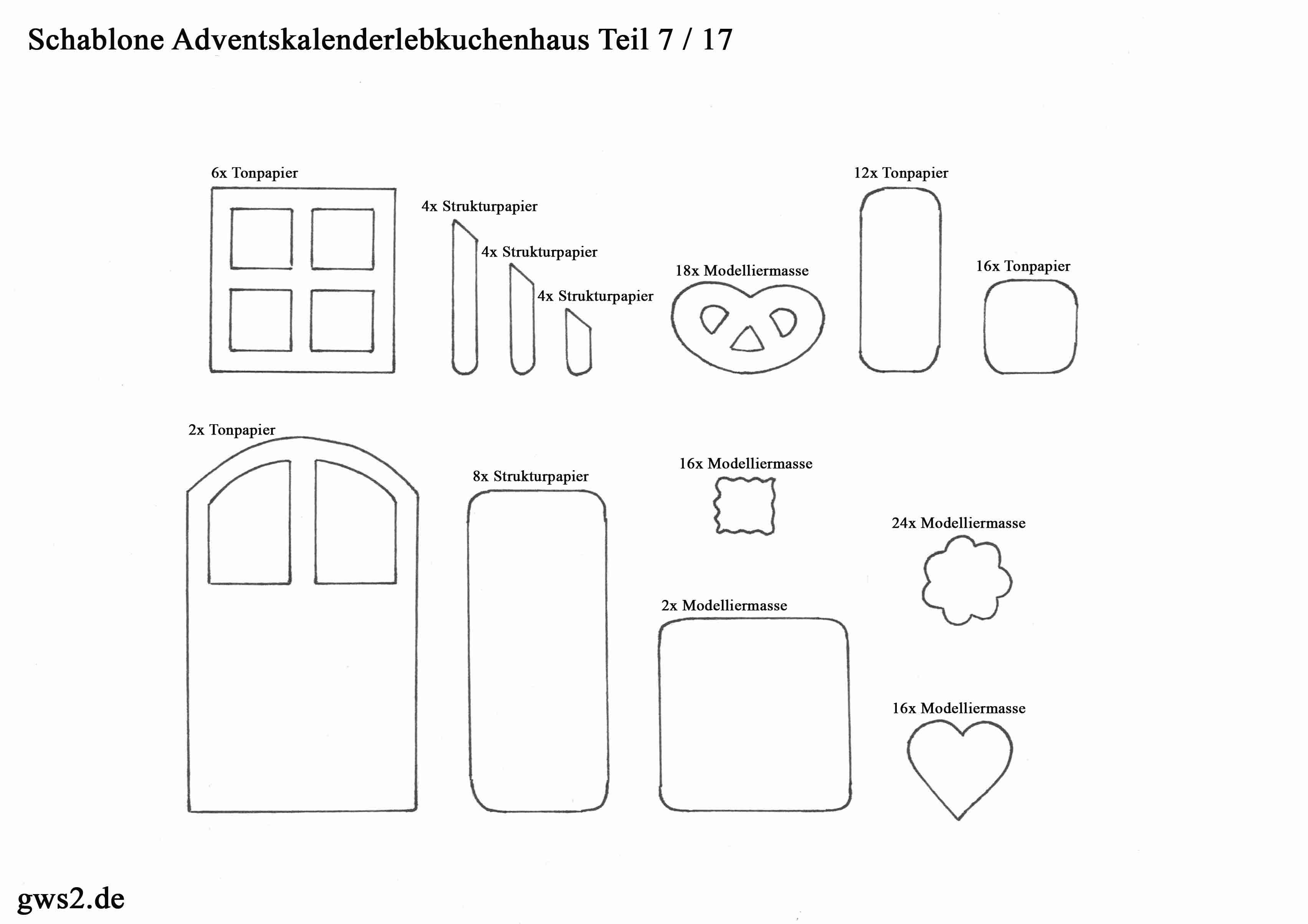 Adventskalender basteln: Lebkuchenhaus - Anleitung