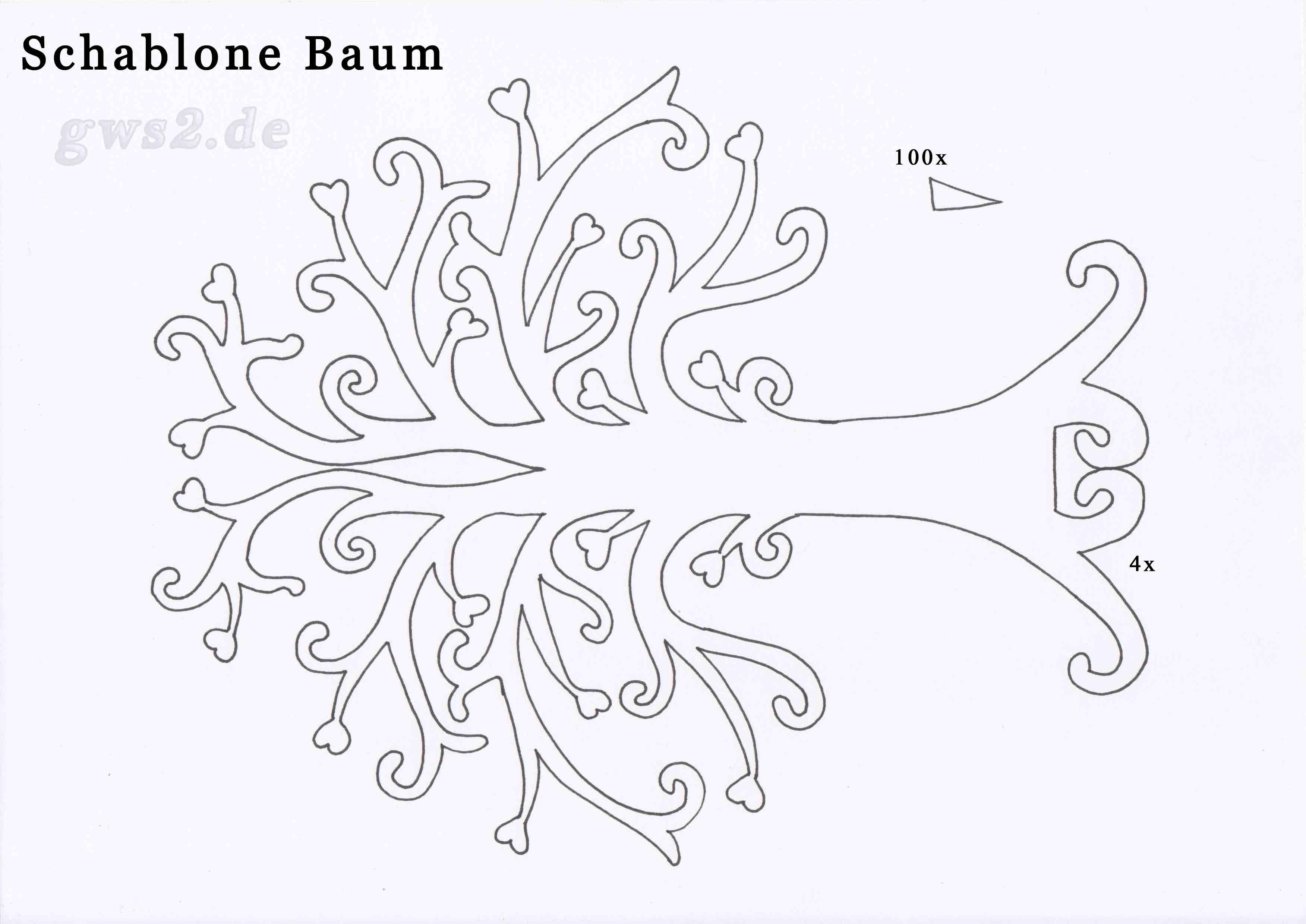 Baum basteln - herbstliche Dekoration