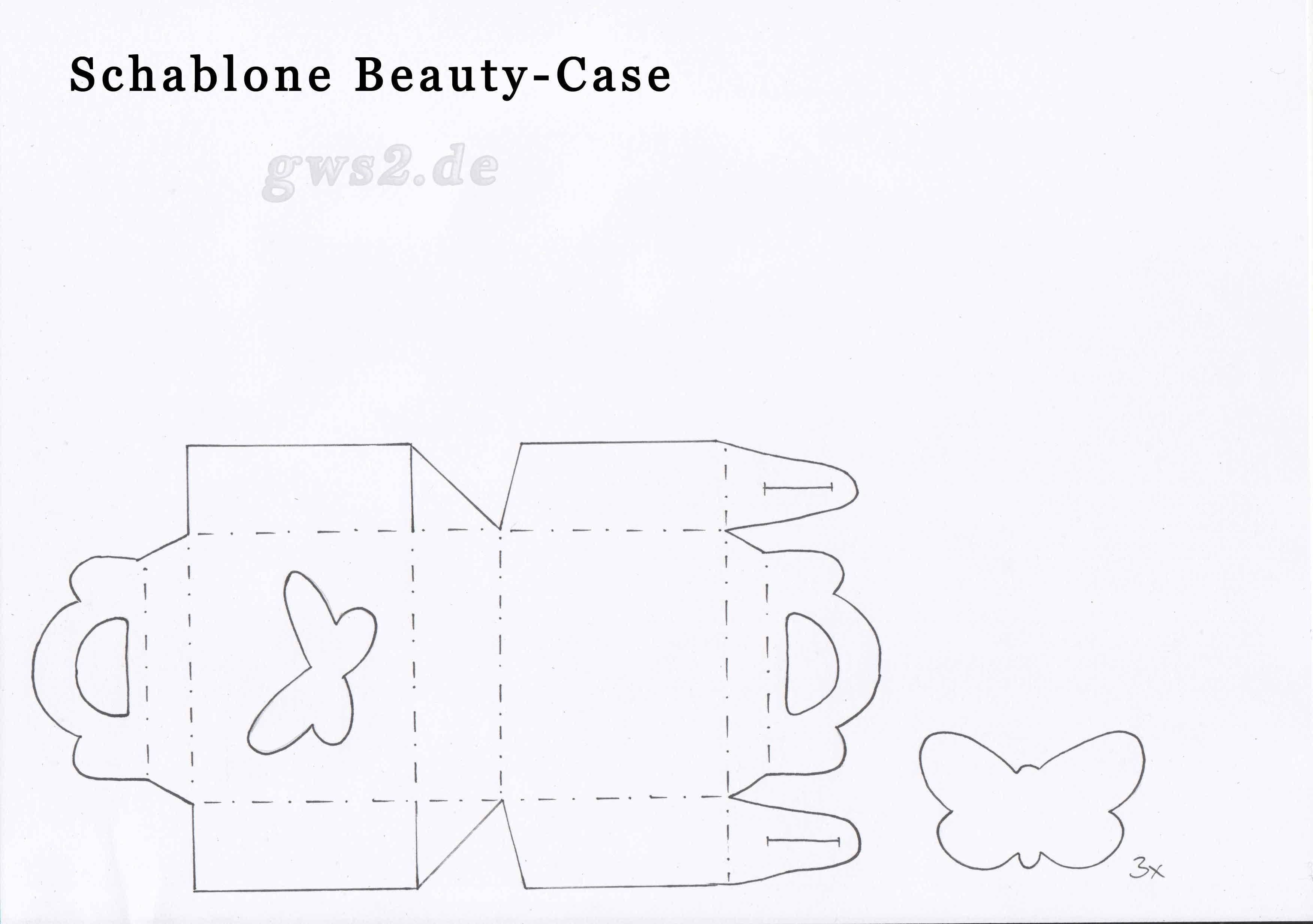 Bild von Schablone für Papierkoffer