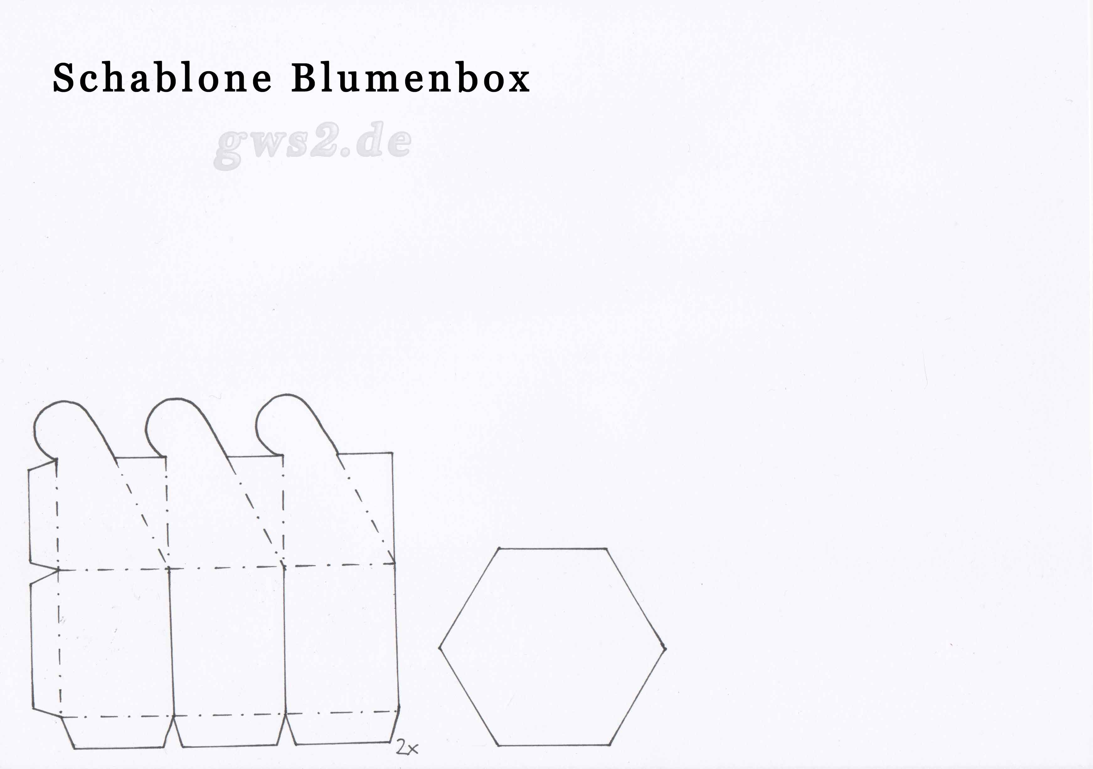 Vorlage Blumenbox - Schachteln selbst basteln