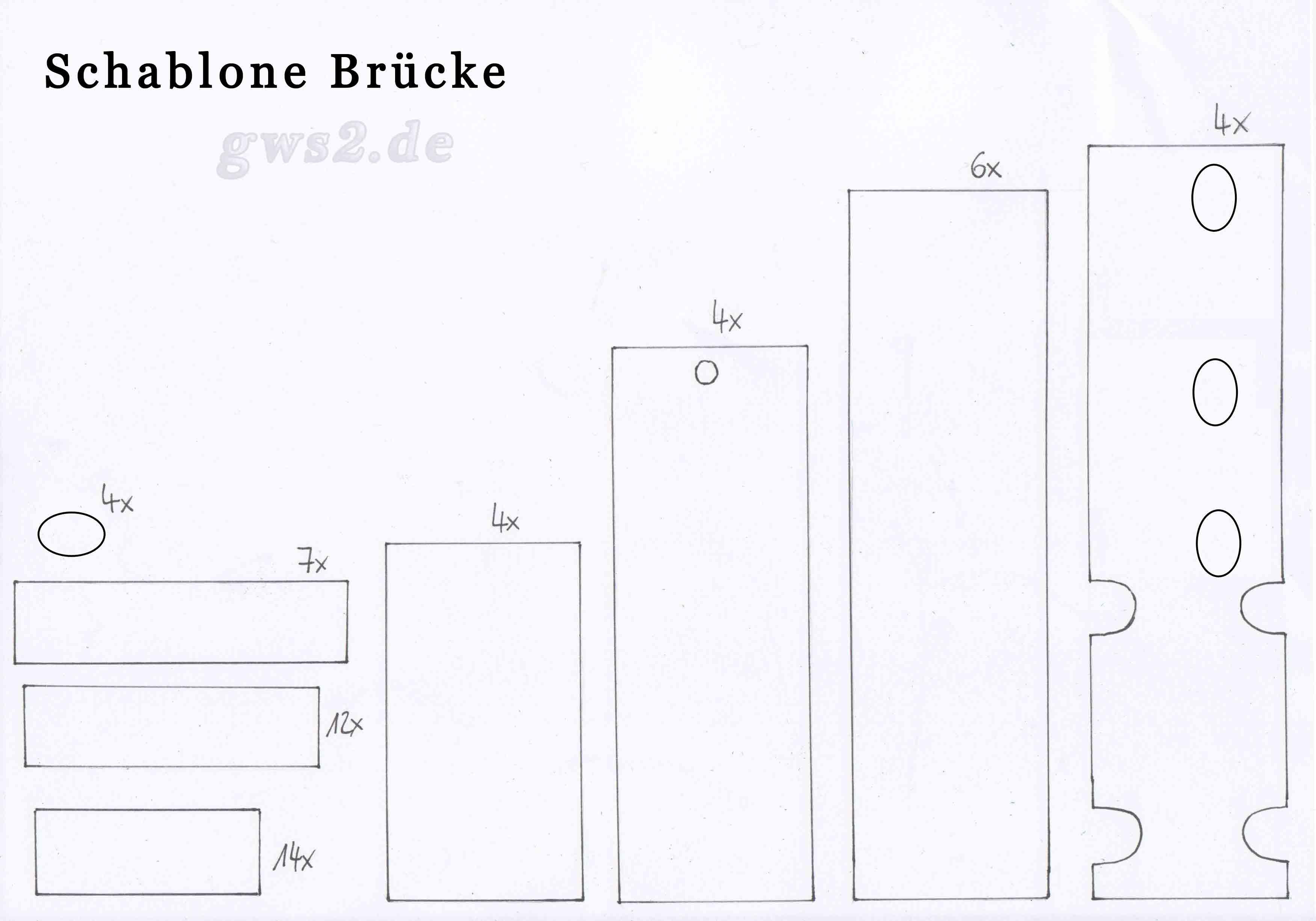 Bild von Schablone für Papierbrücke