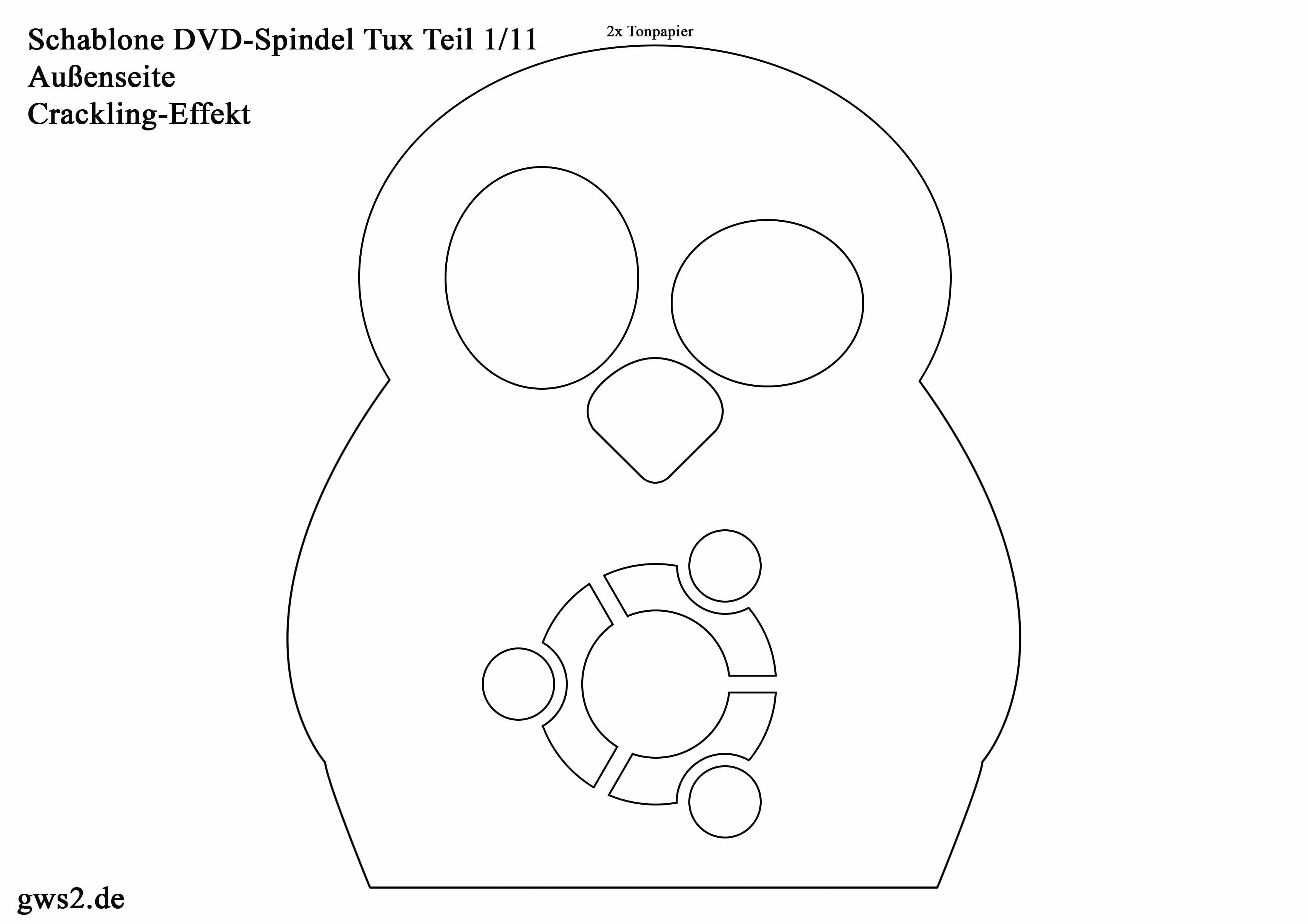Pinguin Tux basteln: Spindel für DVD-Rohlinge - ein Männergeschenk