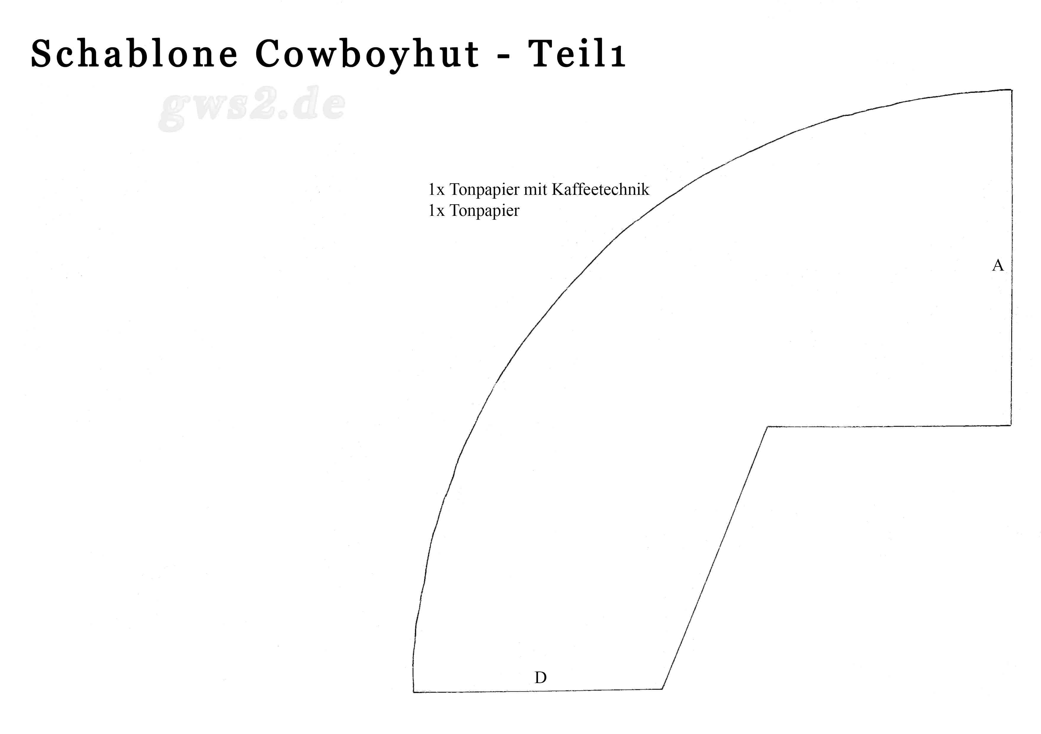 Cowboyhut zum Aufsetzen - Bastelanleitung