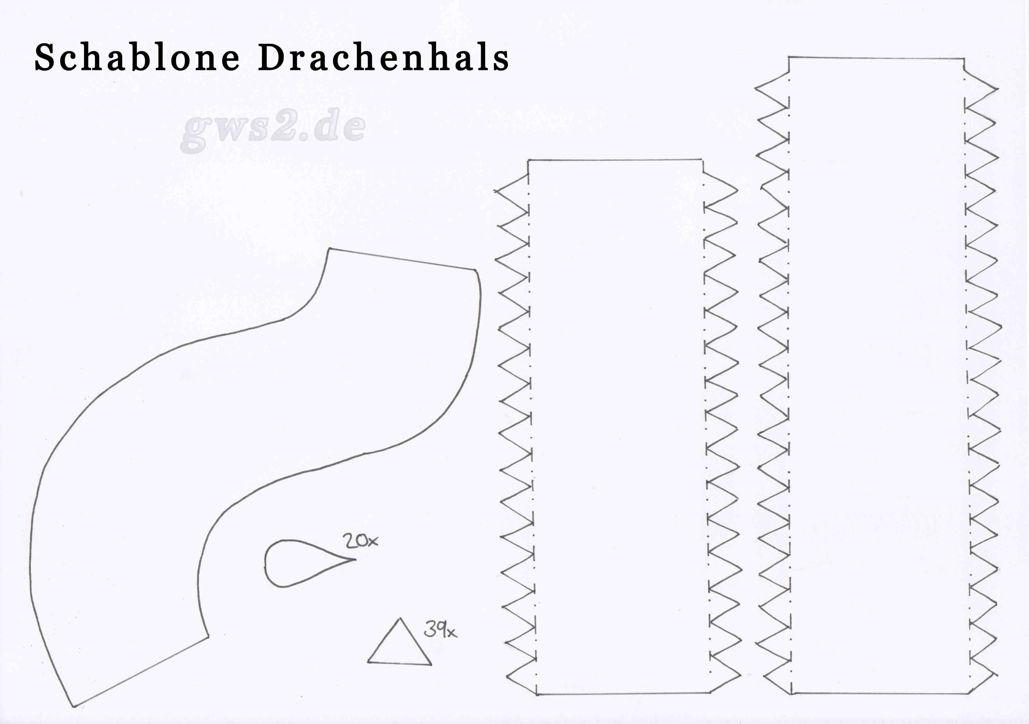 Bild von Schablone für Drachenhals