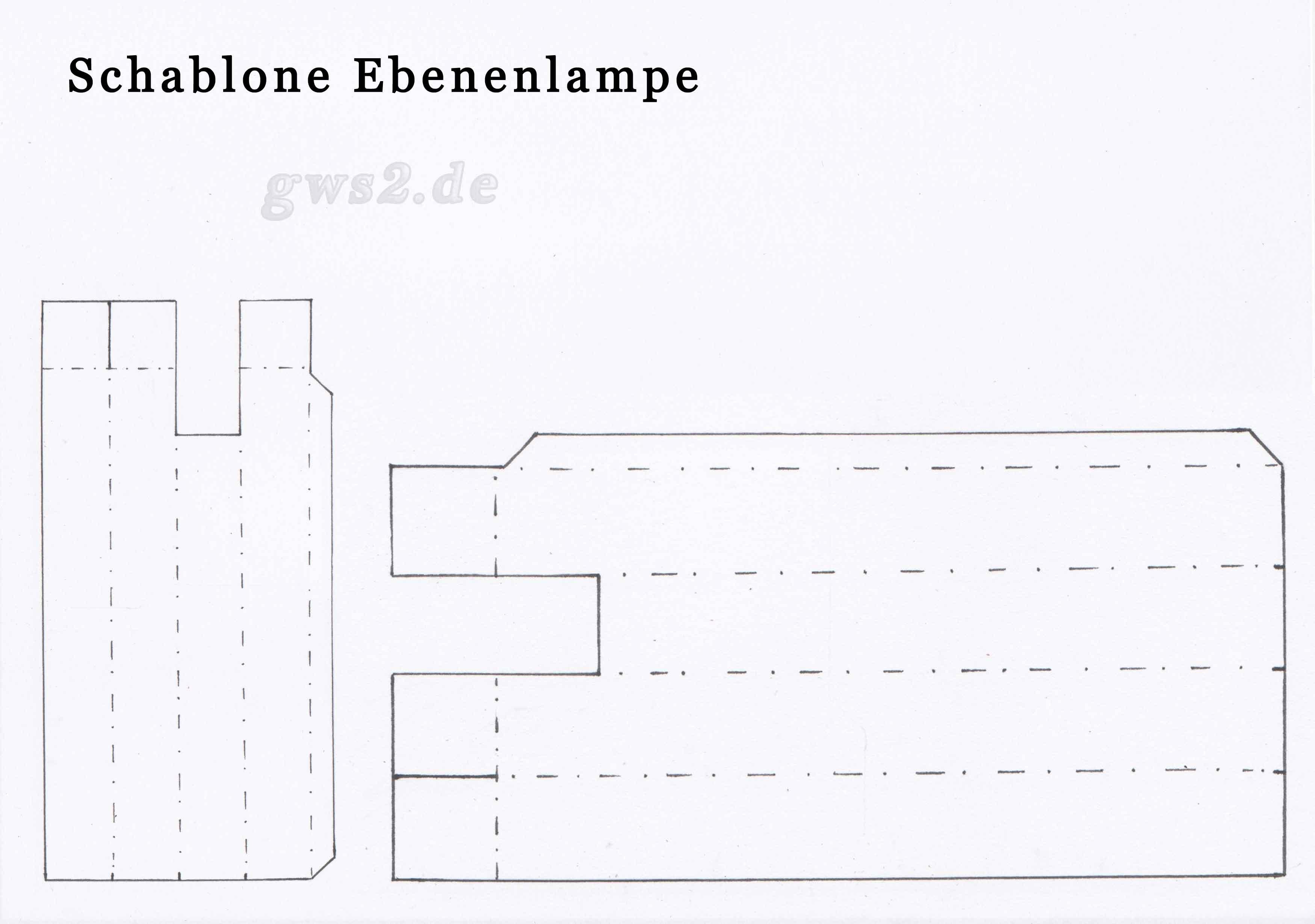 Bild von Schablone für Ebenenlampe