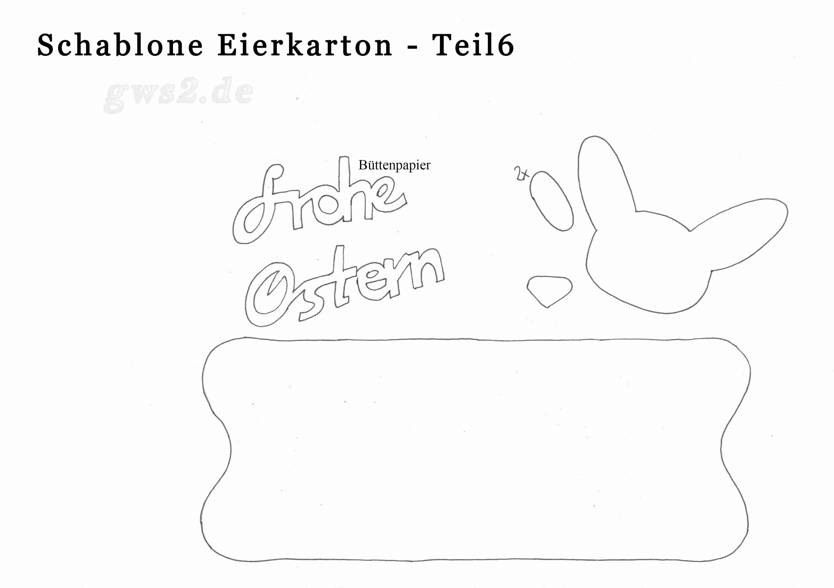 Bastelanleitung: Eierkarton für Ostern