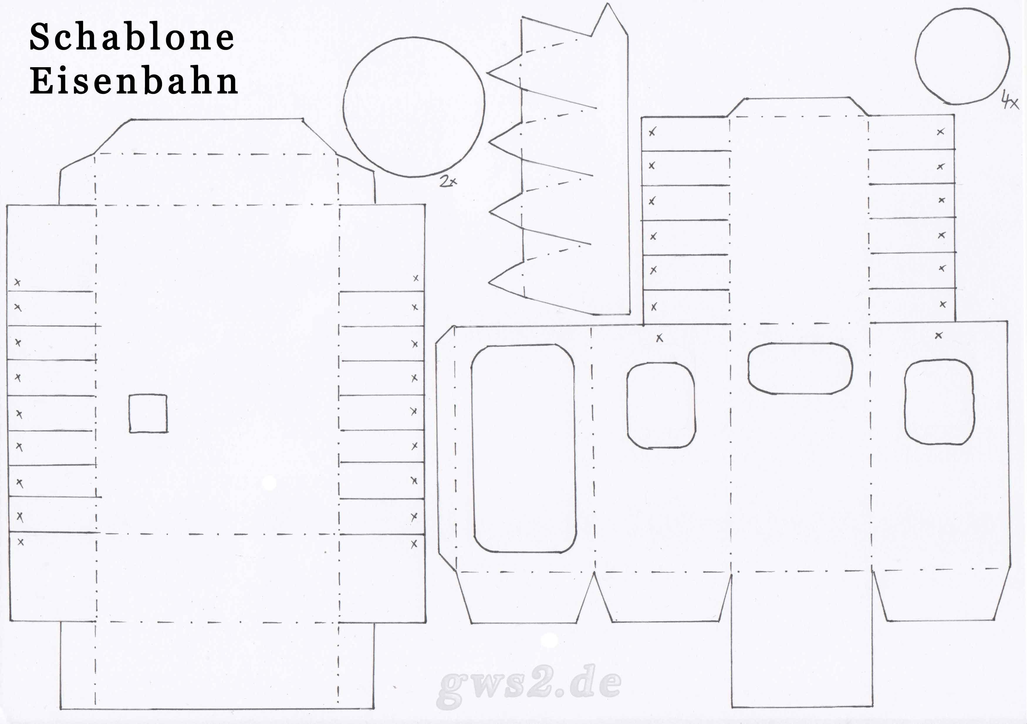 Bild von Schablone für Eisenbahn