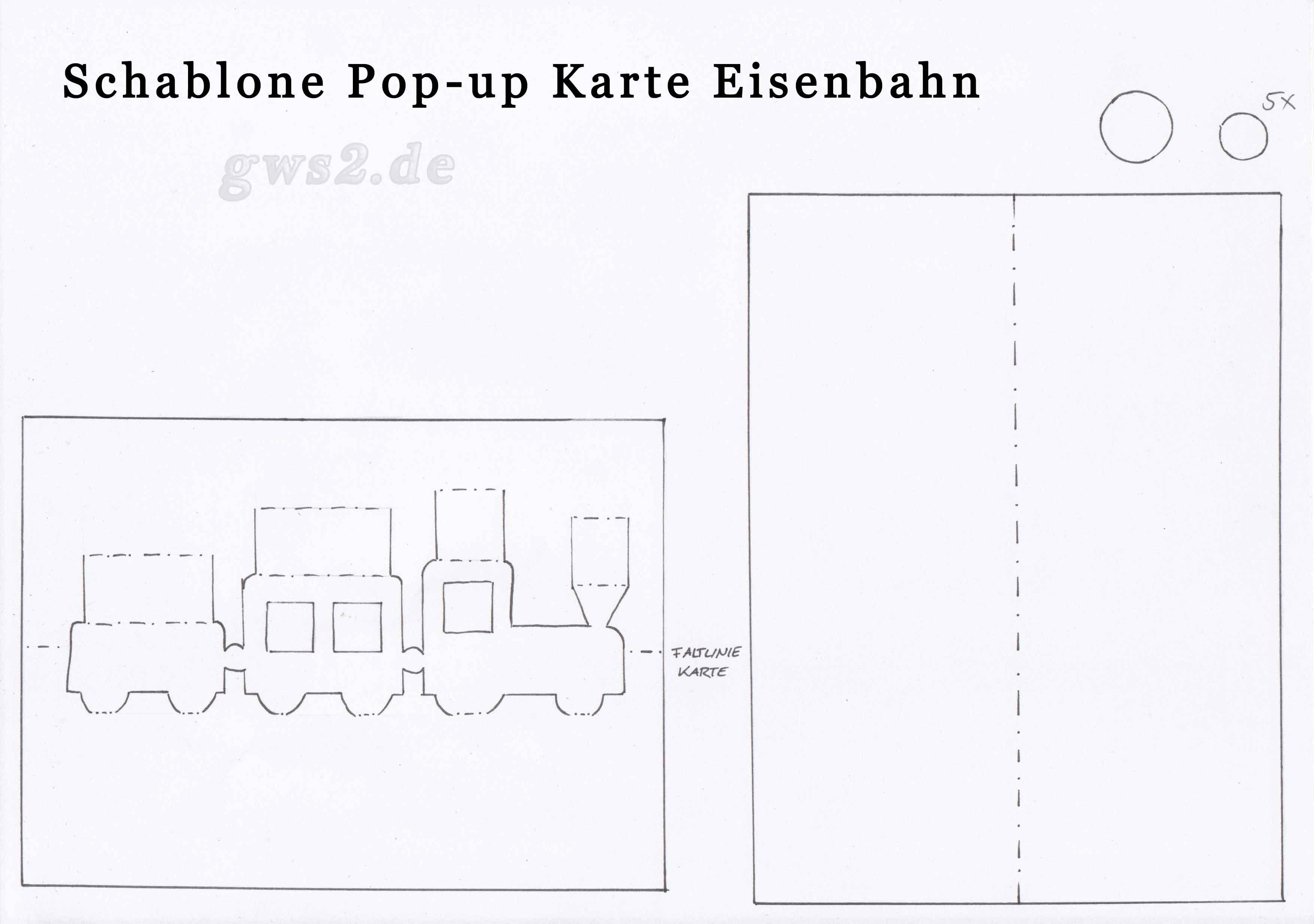 Bild von Schablone für Pop-up Zug