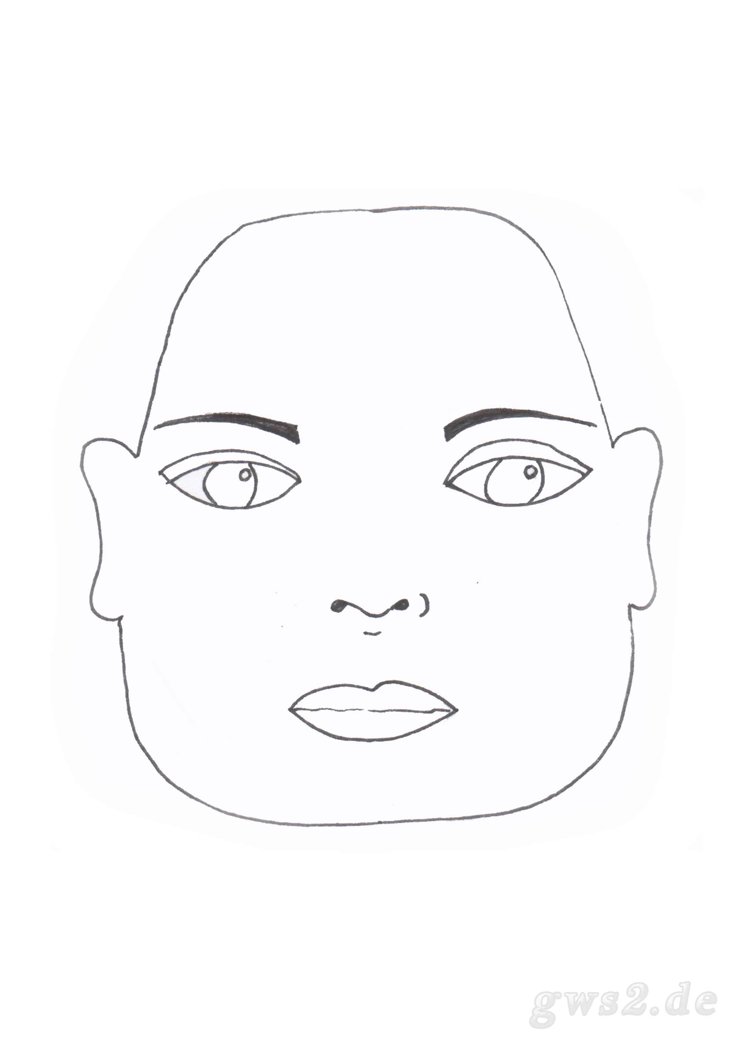 Bild von Schablone für ein Gesichtstrapez