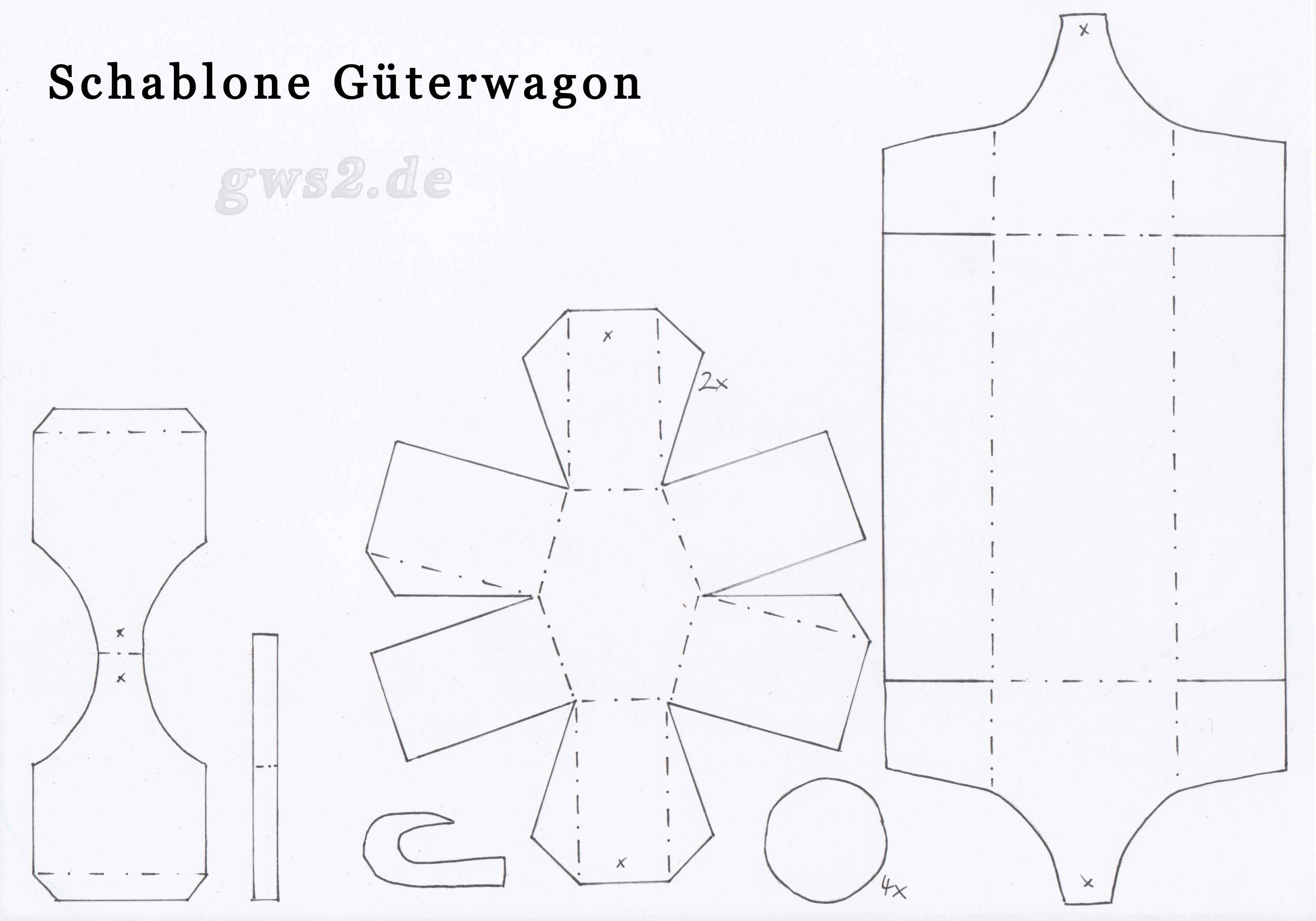 Bild von Bastelschablone für den Wagon