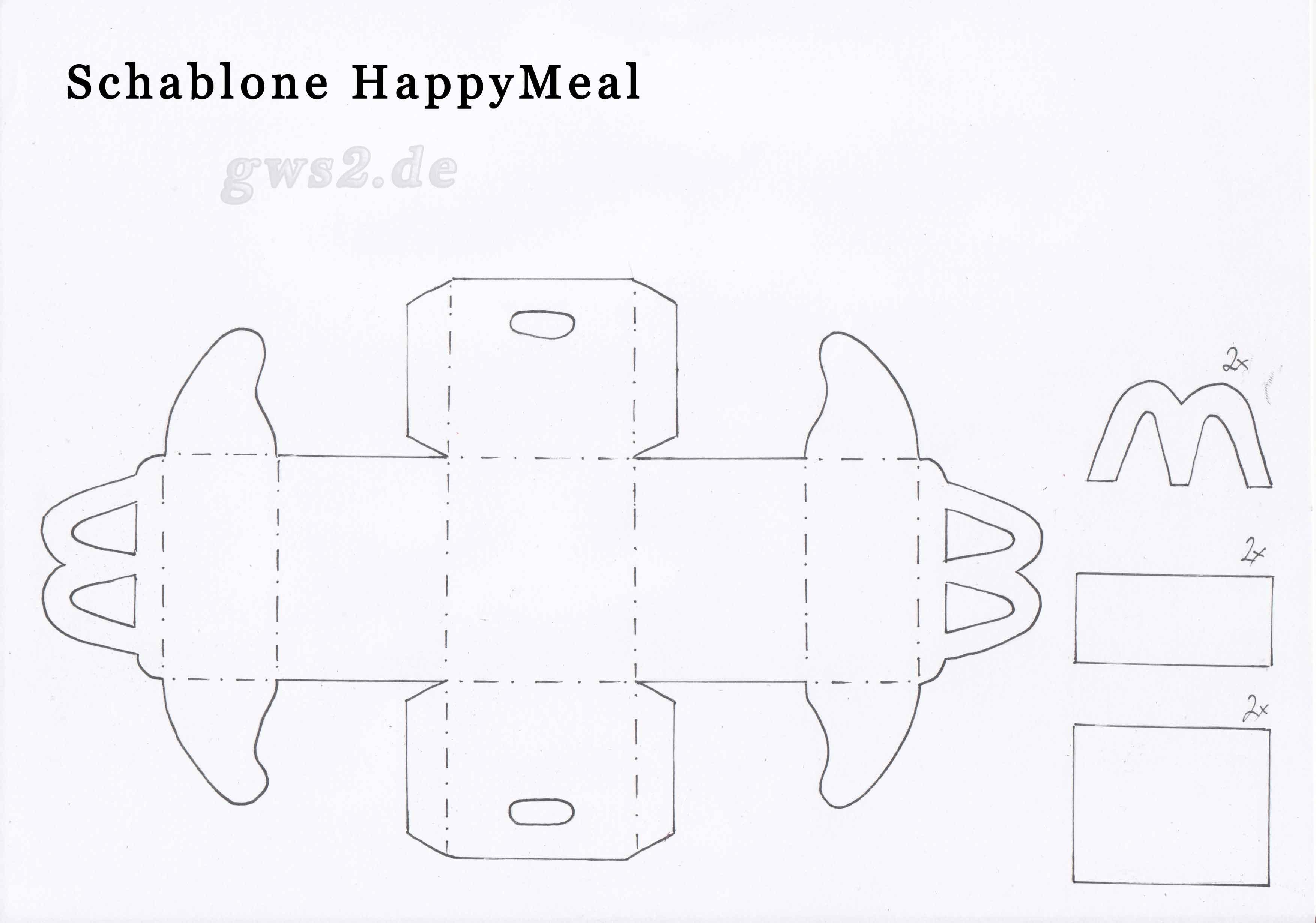 happy meal basteln. Black Bedroom Furniture Sets. Home Design Ideas
