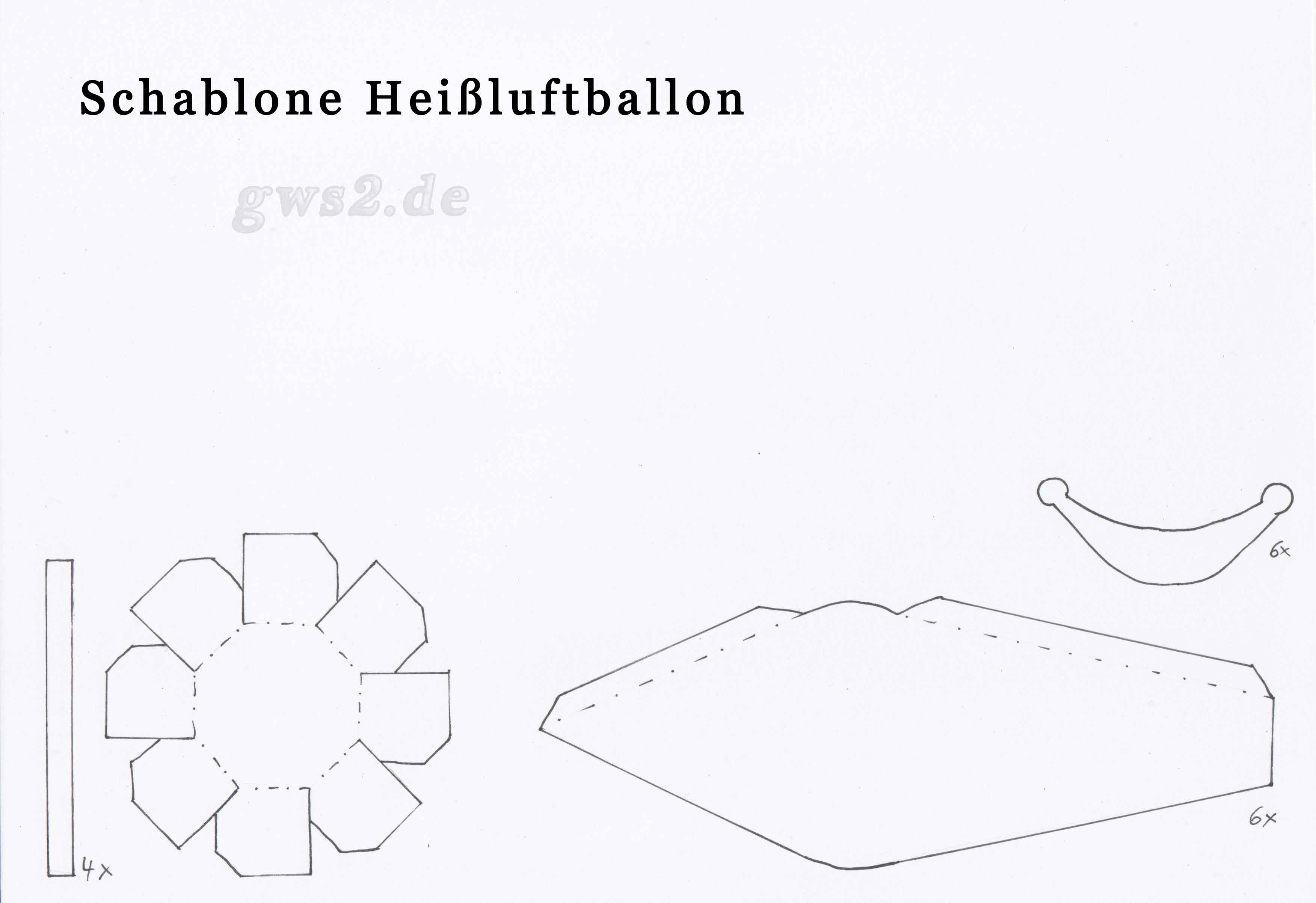 Heißluftballon basteln - Anleitung