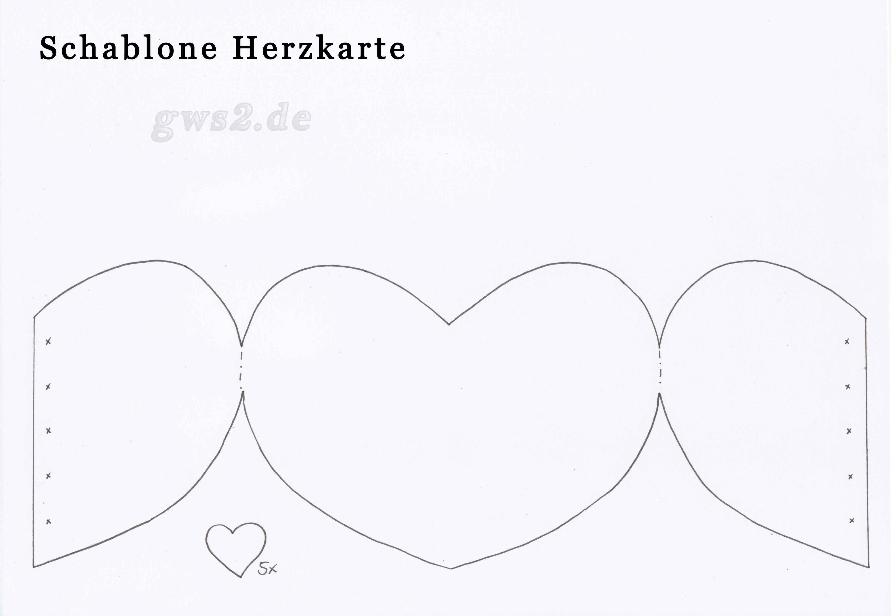 Bastelvorlage Muttertagskarte: Herz