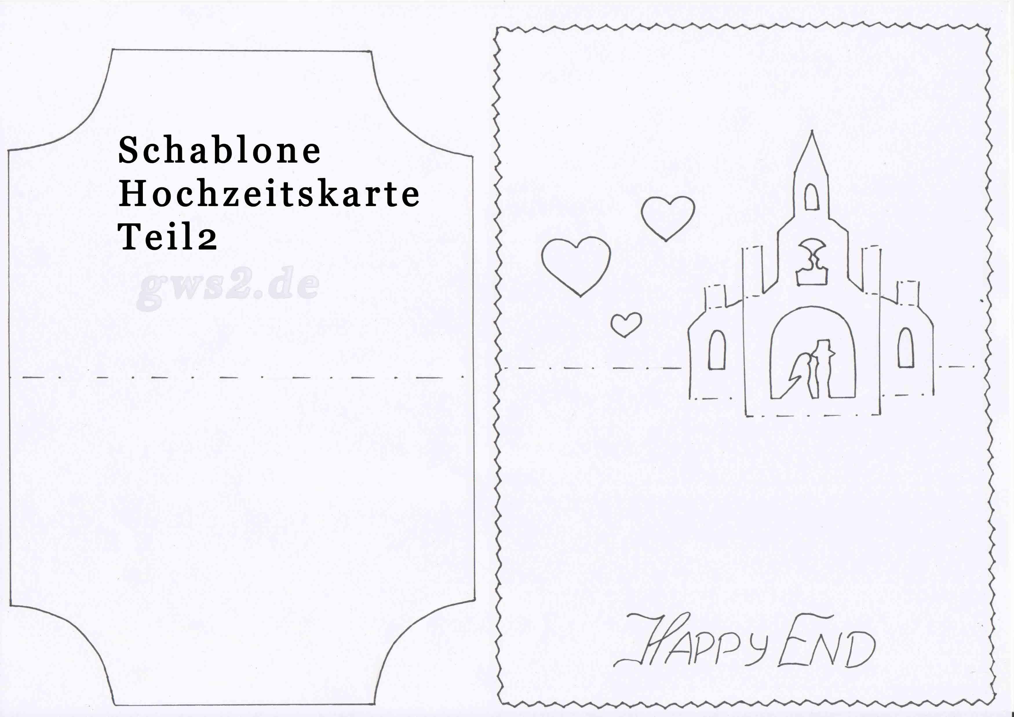 Hochzeitskarte mit Pop-up Kirche und Magnettor