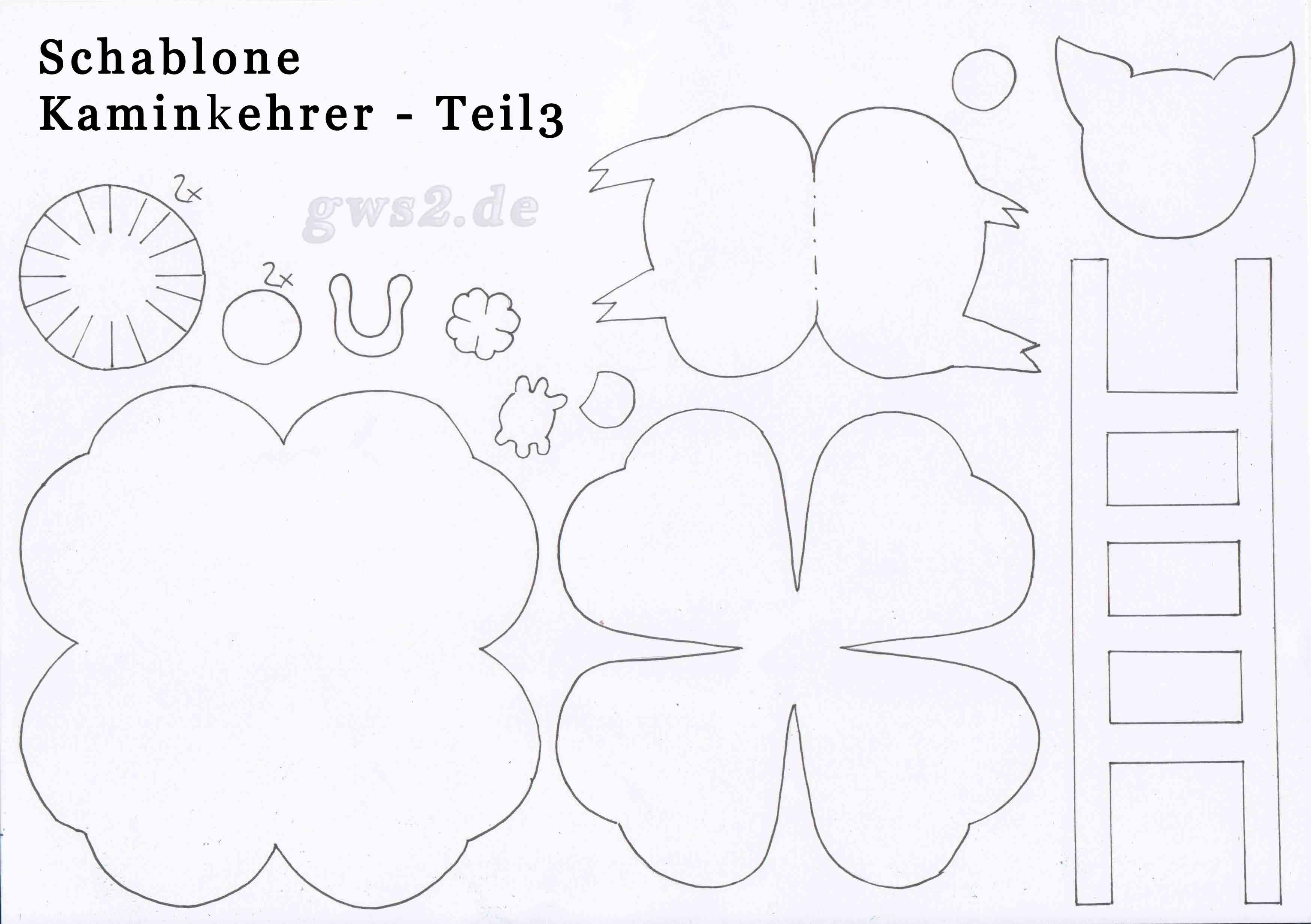 Schornsteinfeger basteln – Anleitung zur Silvesterdeko