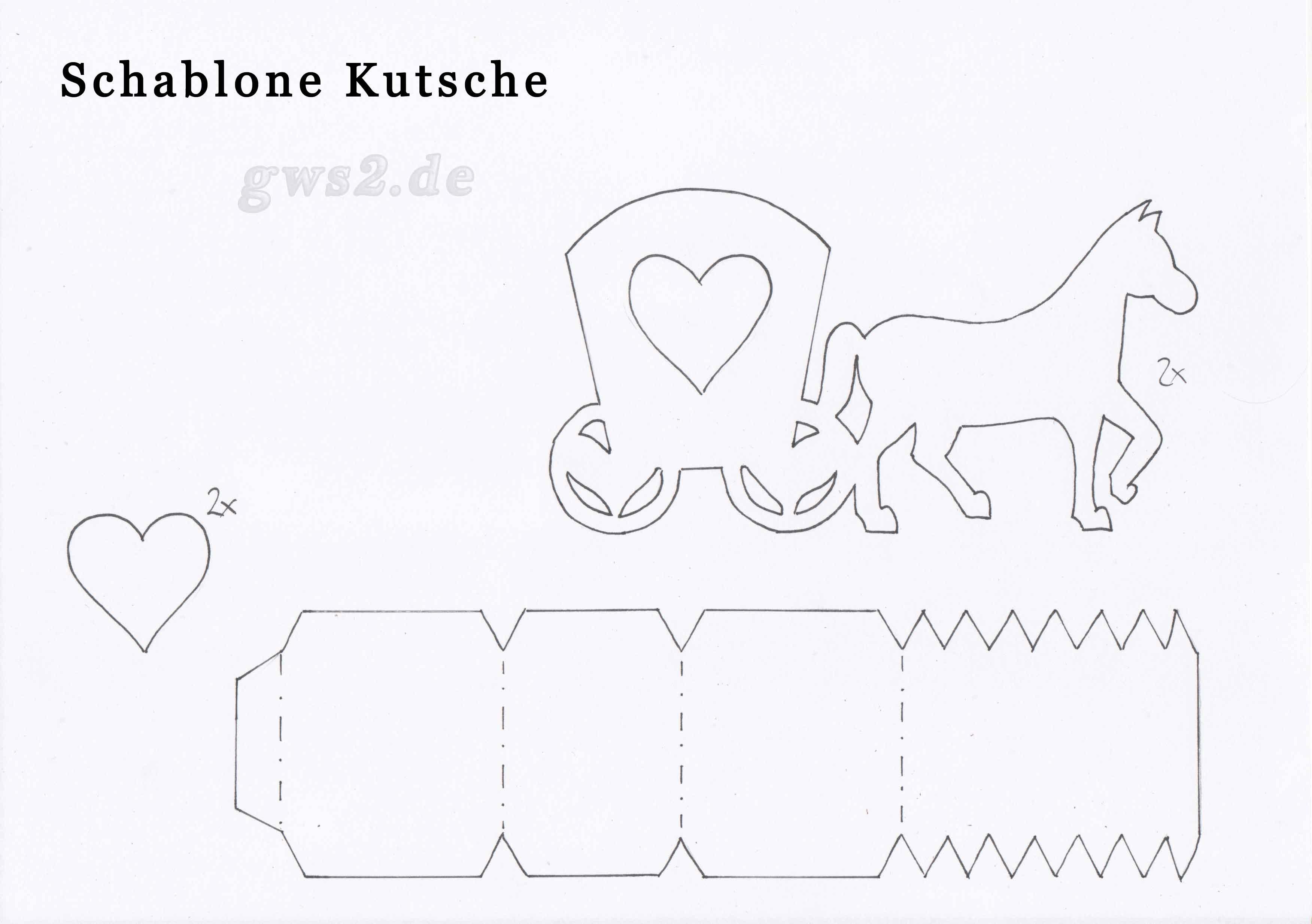 Bild von Schablone für eine Kutsche