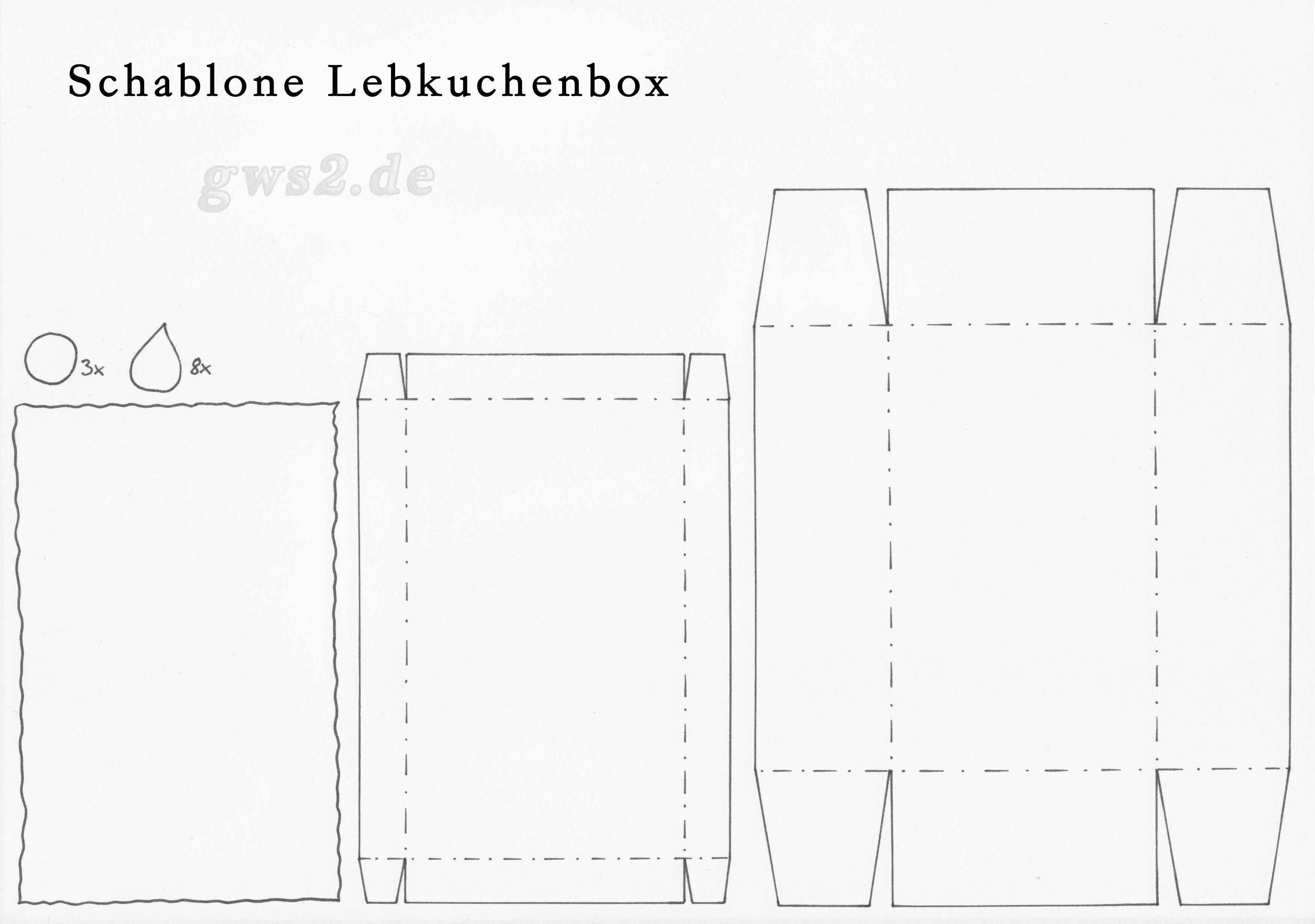 Bastelvorlage Lebkuchenbox