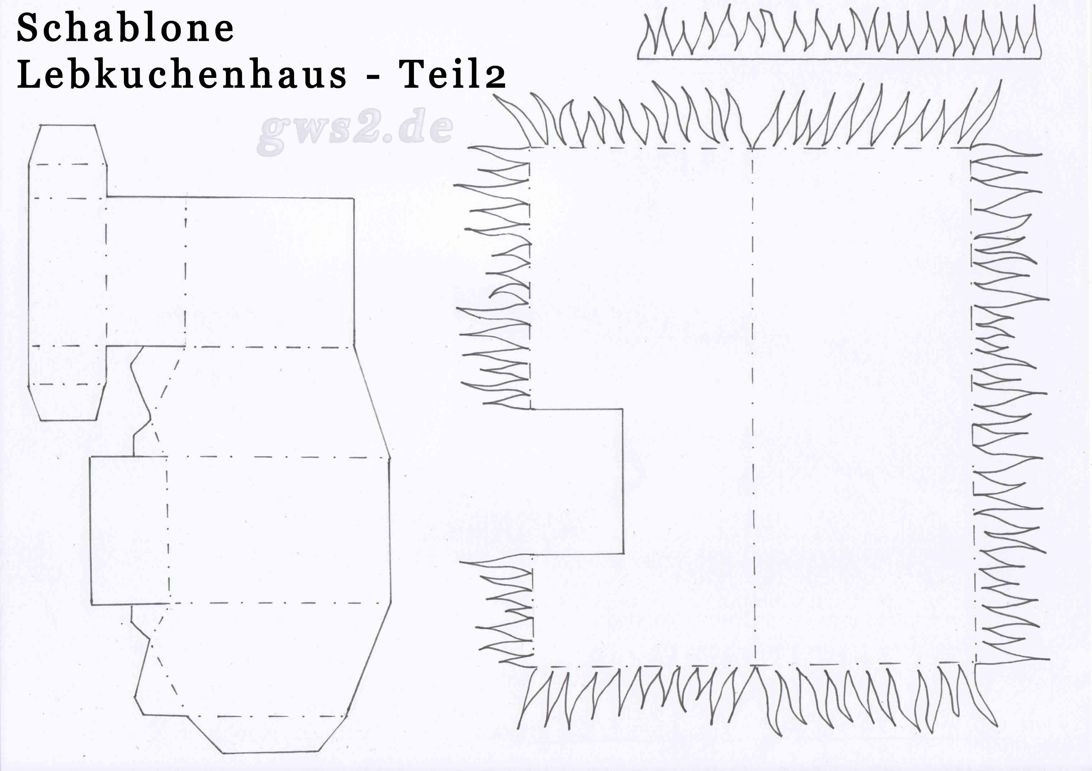 Lebkuchenhaus basteln - beleuchtet aus Papier