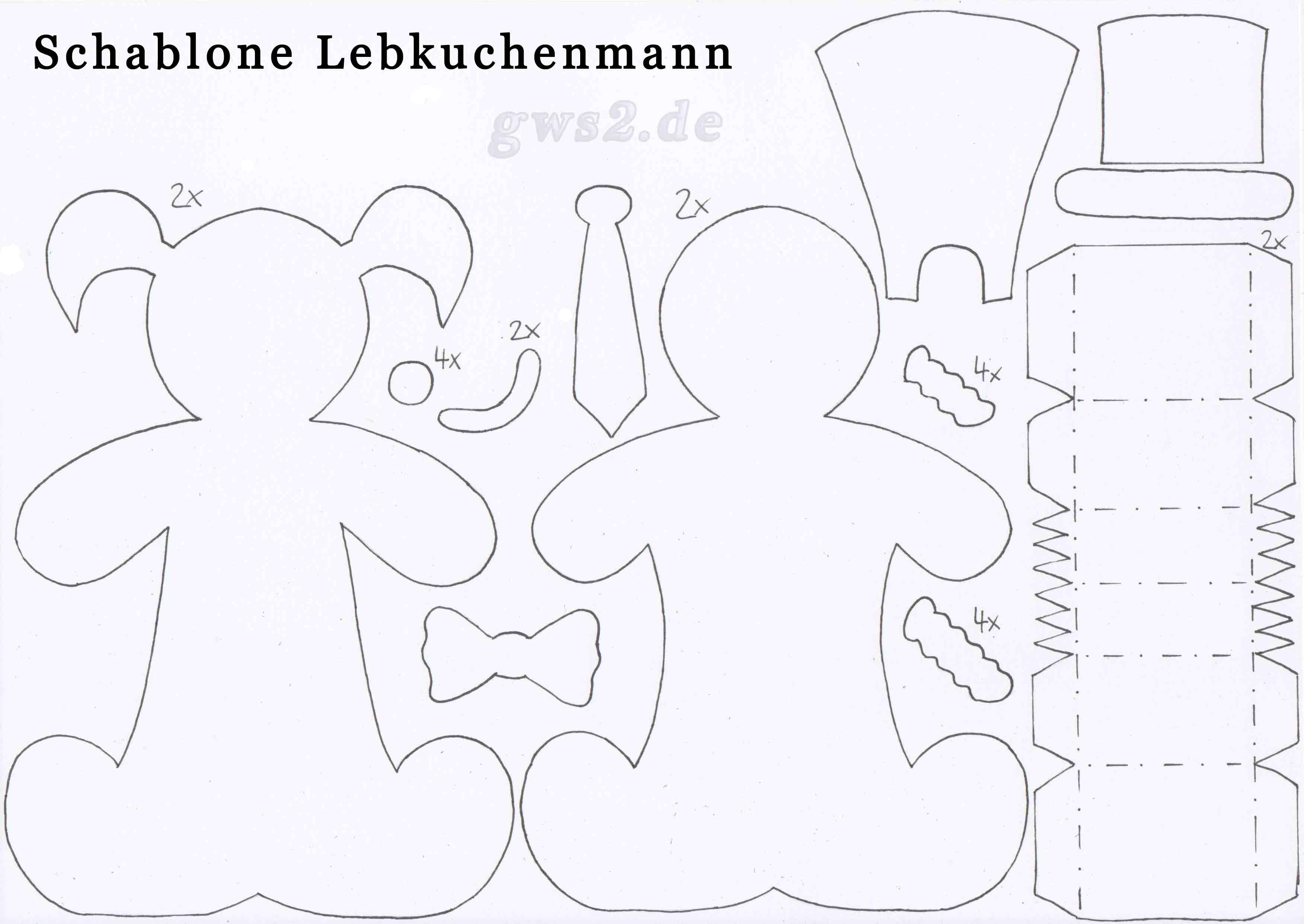 Fein Lebkuchenmann Zeichnung Vorlage Zeitgenössisch - Entry Level ...