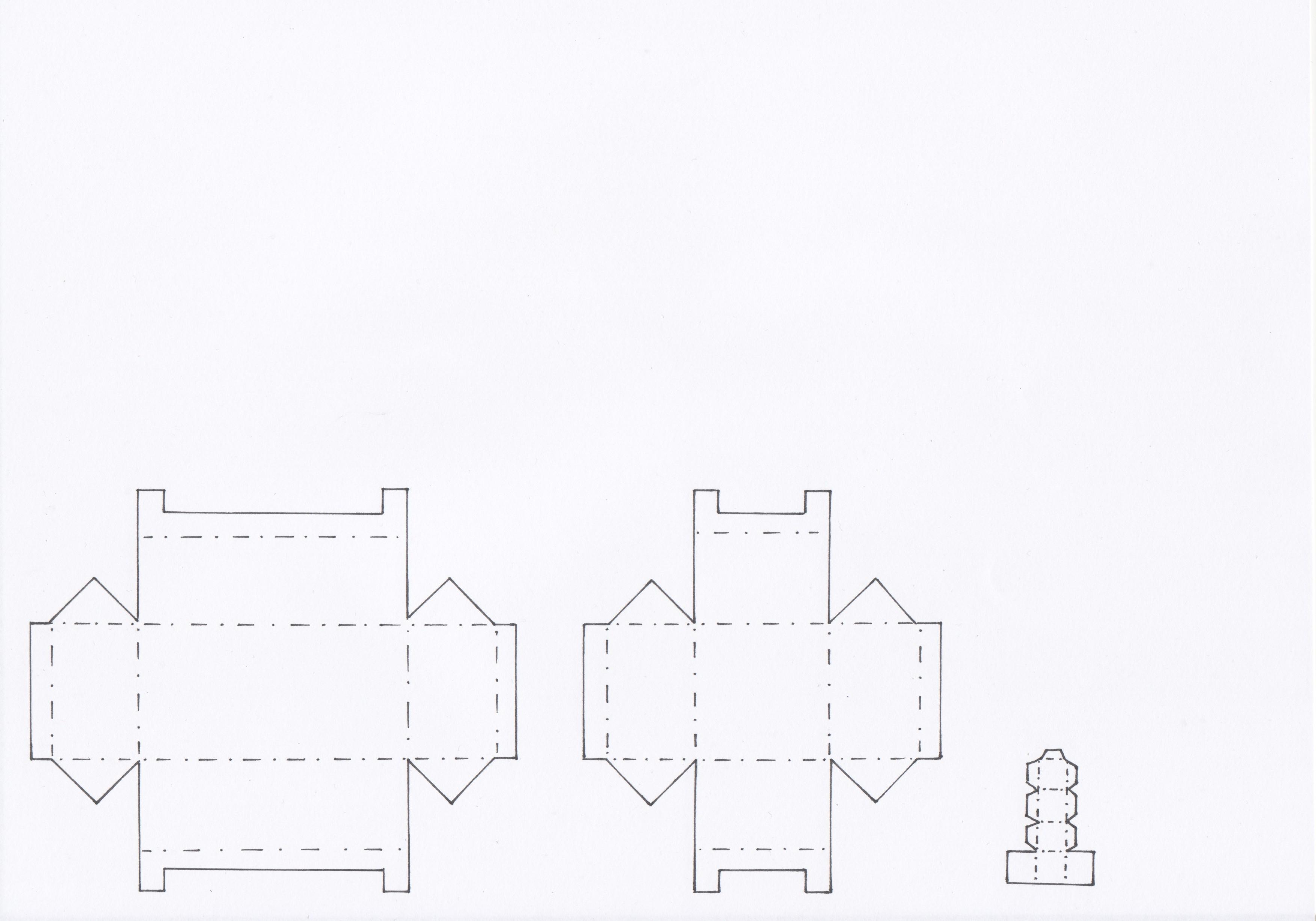Bastelschablone Legostein aus Papier