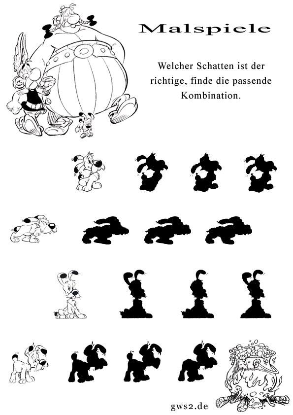 asterix schattenspiel zum ausmalen. Black Bedroom Furniture Sets. Home Design Ideas