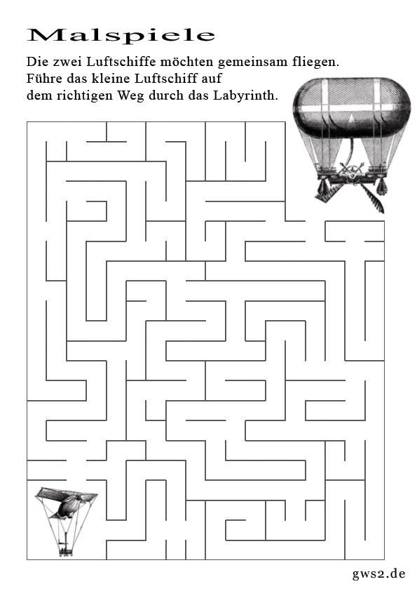 Bild eines Malspiels zum Thema Labyrinth