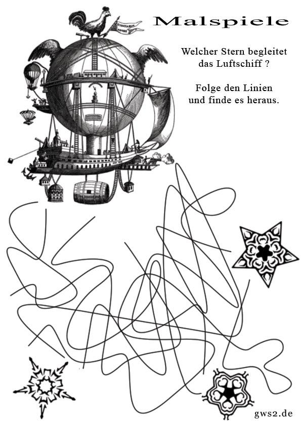 Bild von Luftschiffen im Labyrinth