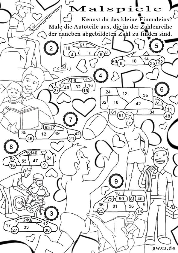 Vatertag - Malspiele mit Rätseln für Kinder