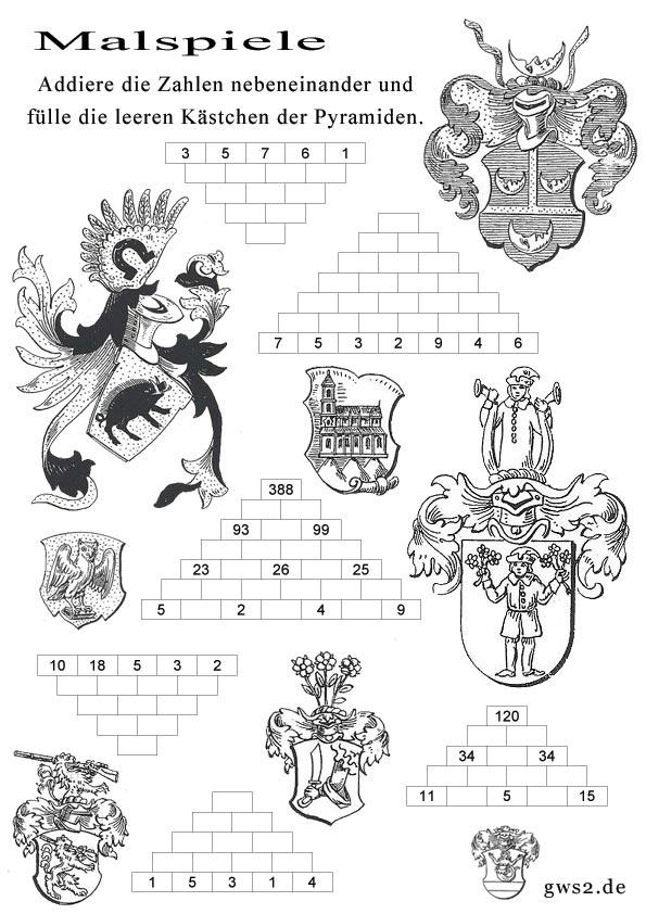 Bild von Wappen zum Ausmalen
