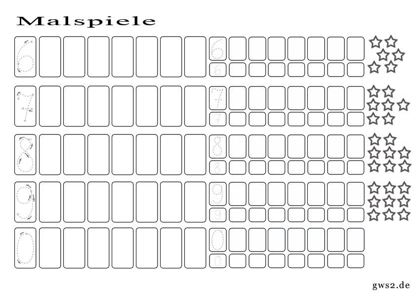 Bild von Malspiel um Zahlen zu lernen