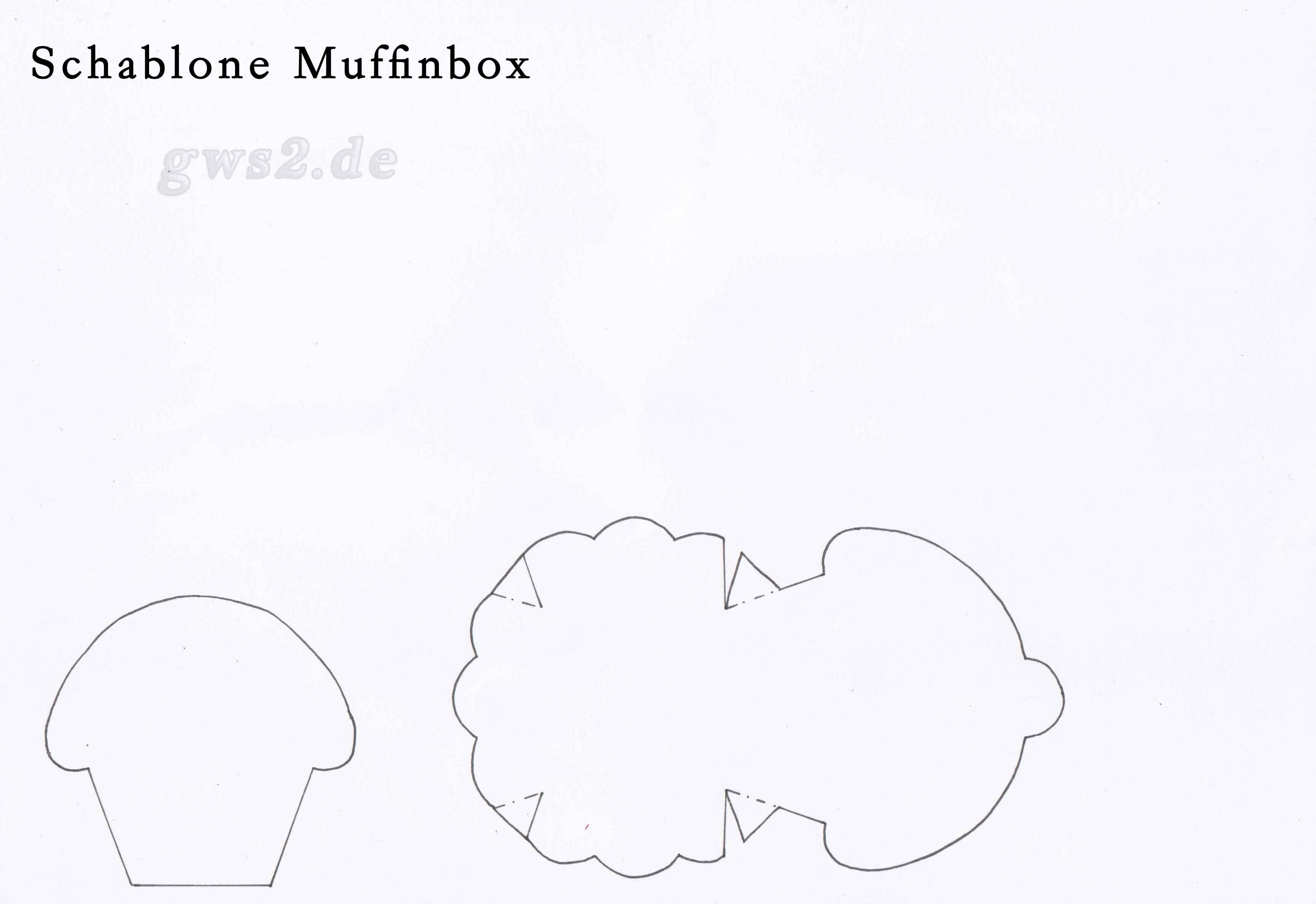 Bastelvorlage Muffinbox