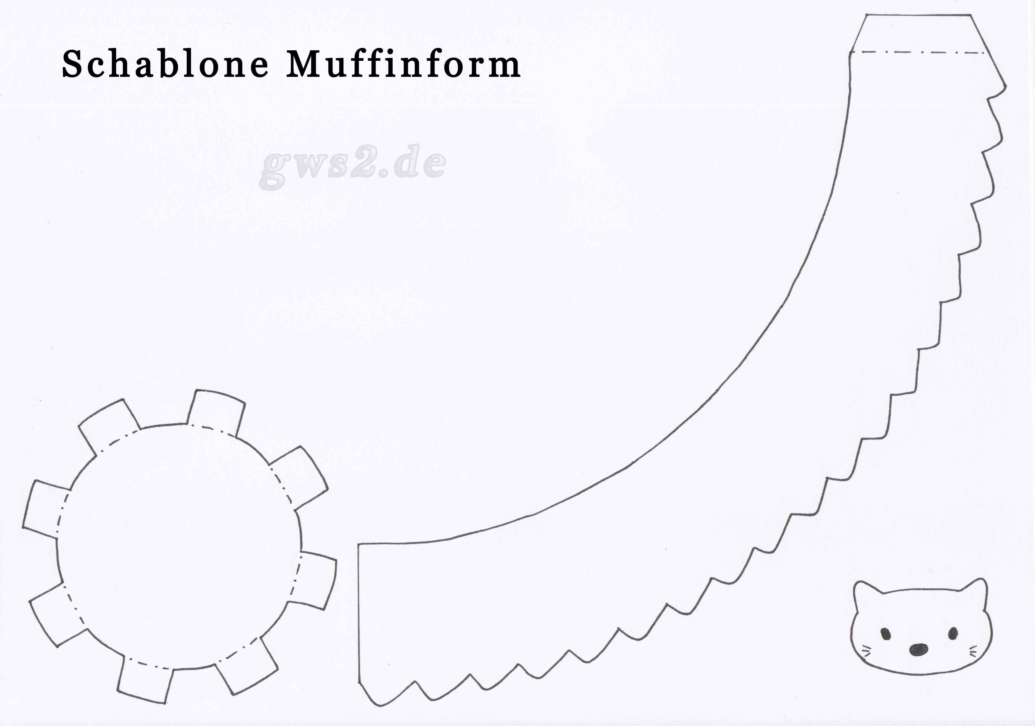 Bastelschablone Muffinform