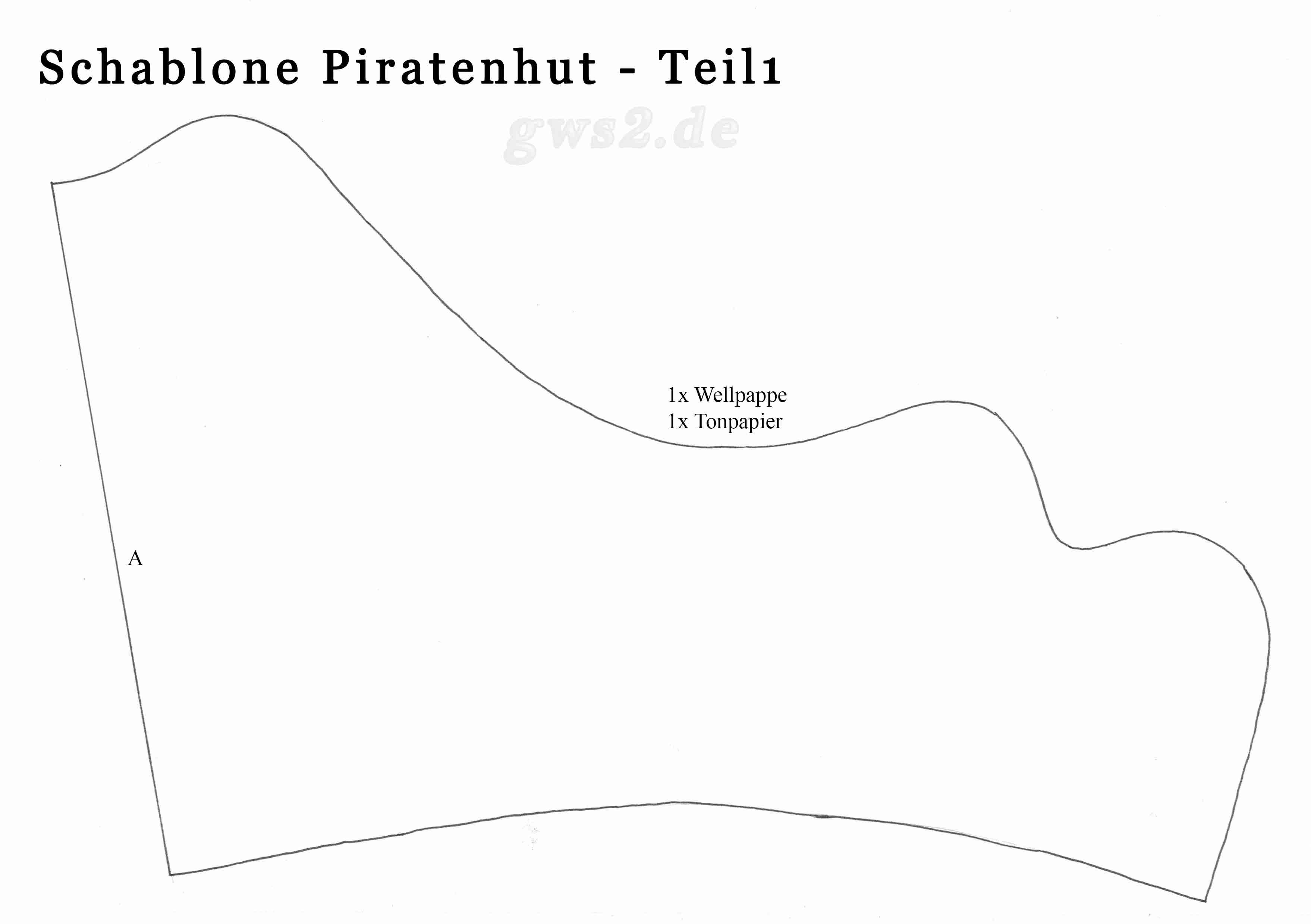 Piratenhut Basteln Anleitung Und Schablonen