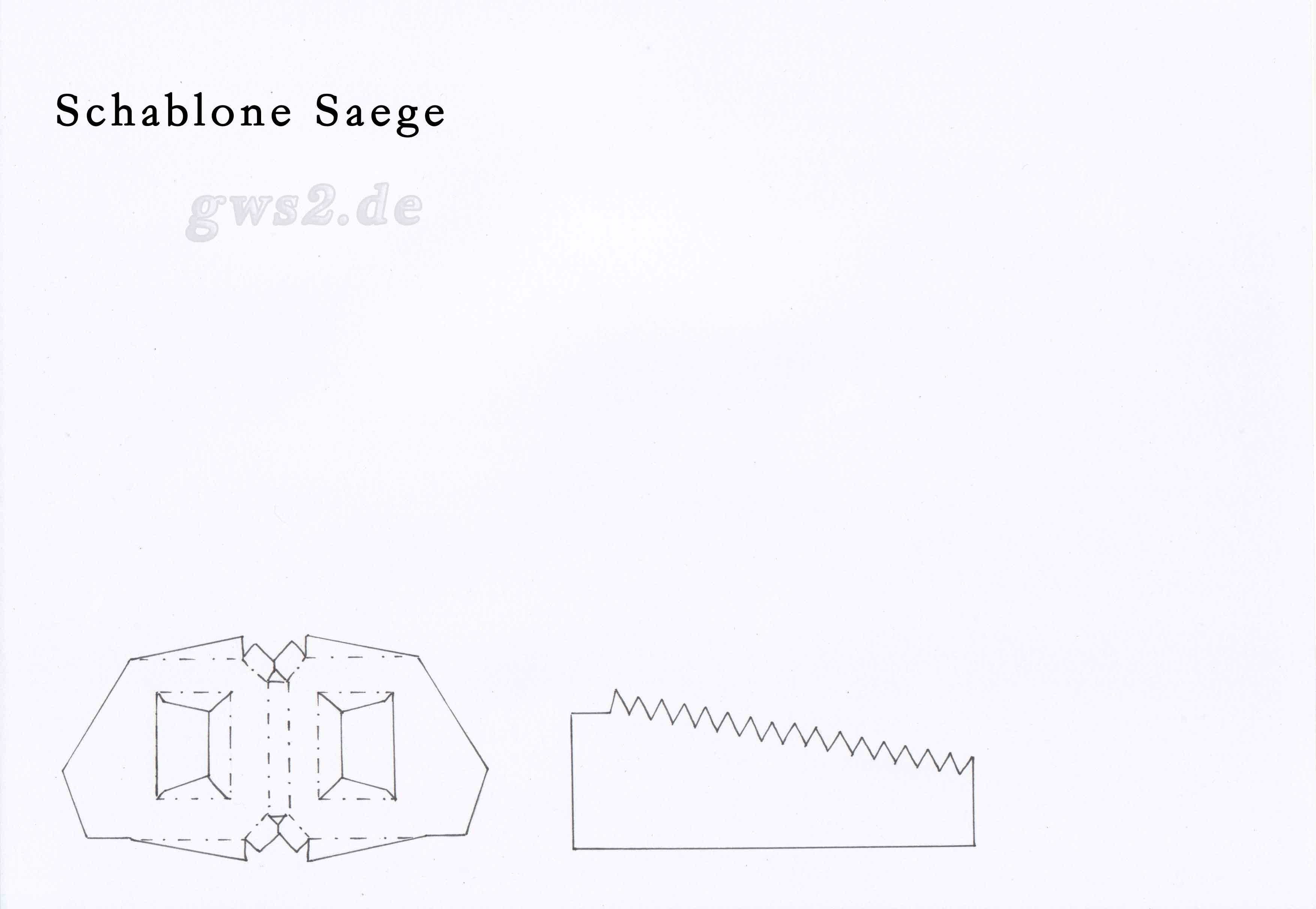 Bastelvorlage: Säge aus Papier