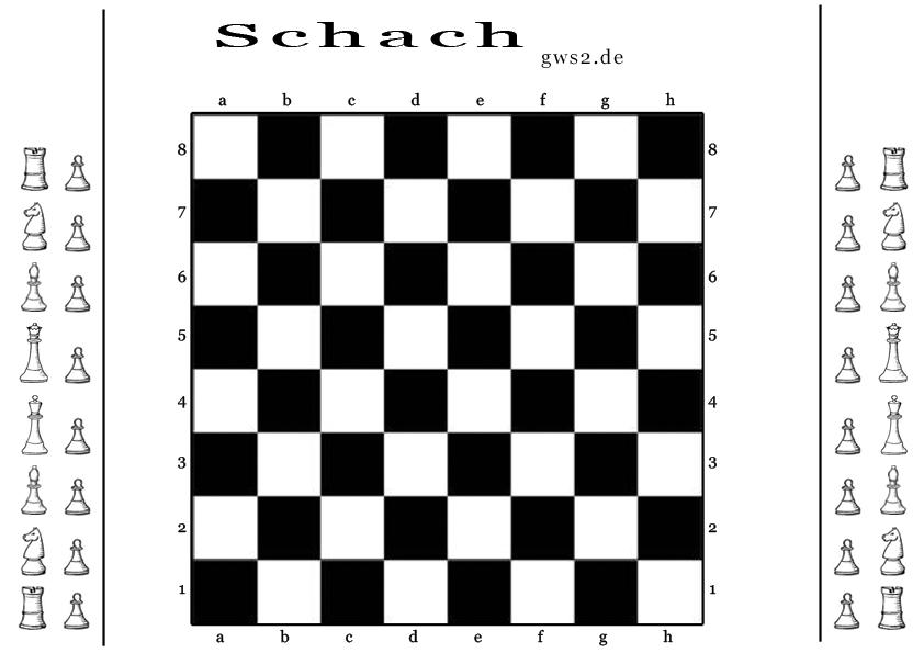 Schach Brettspiel und Figuren - Strategiespiel aus Papier