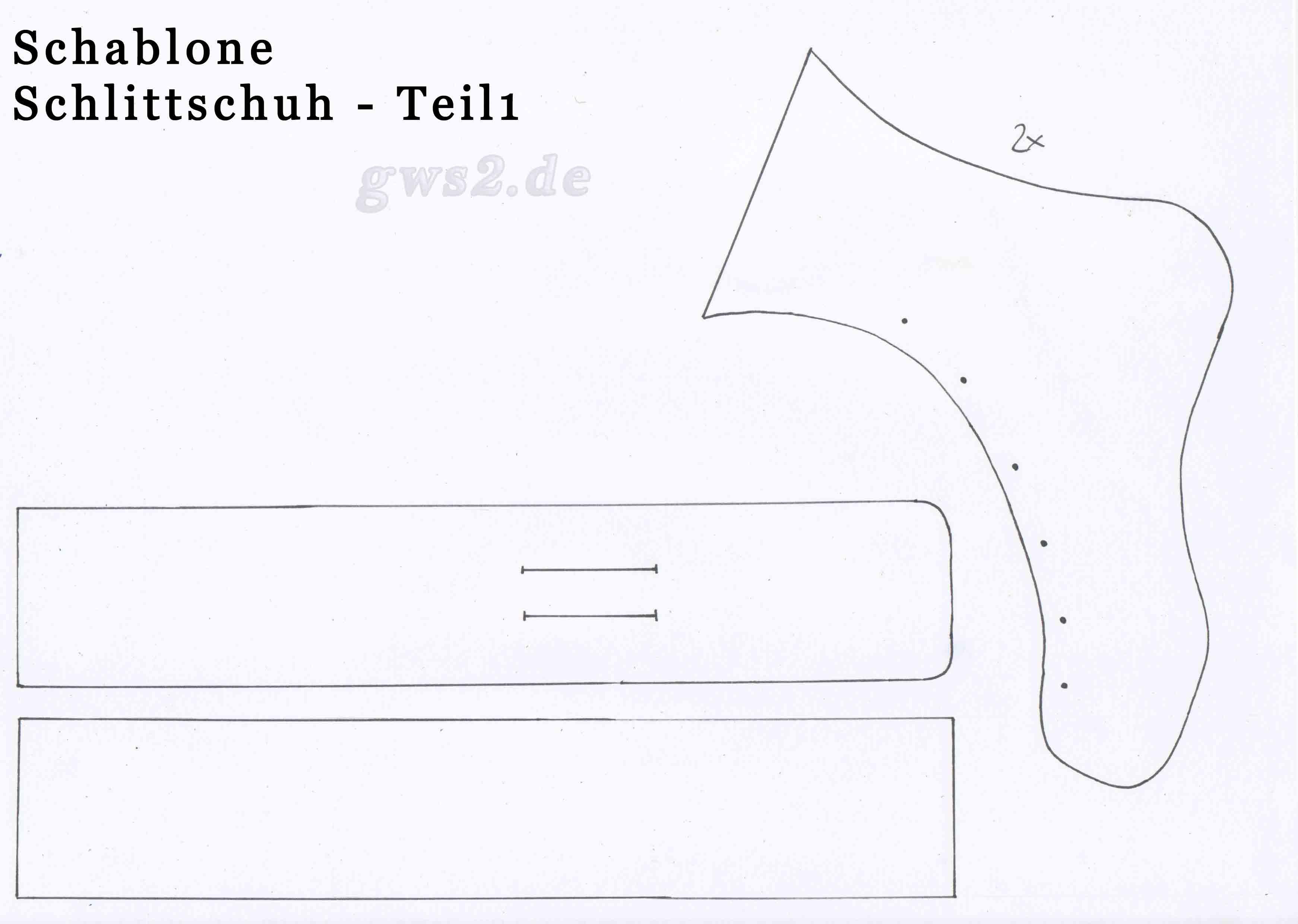schlittschuhe basteln anleitung und schablonen. Black Bedroom Furniture Sets. Home Design Ideas