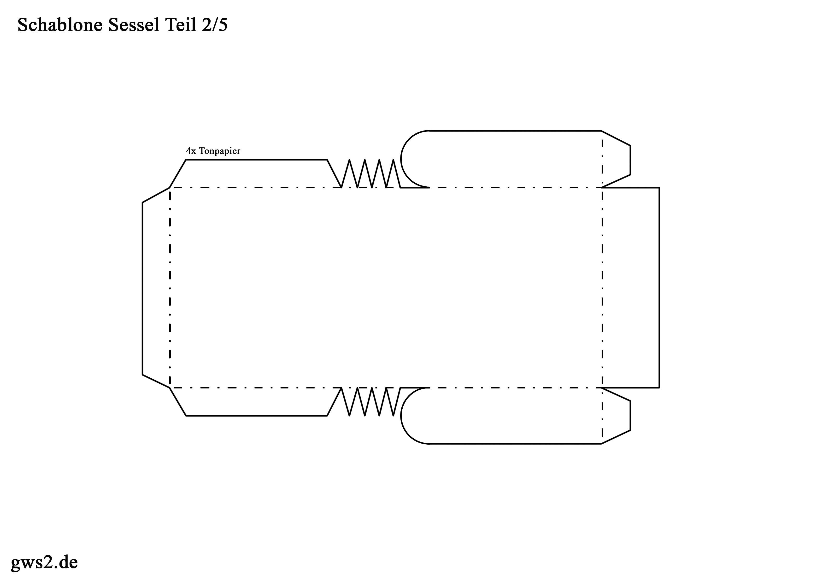 Sessel aus Papier - Bastelvorlage mit Anleitung