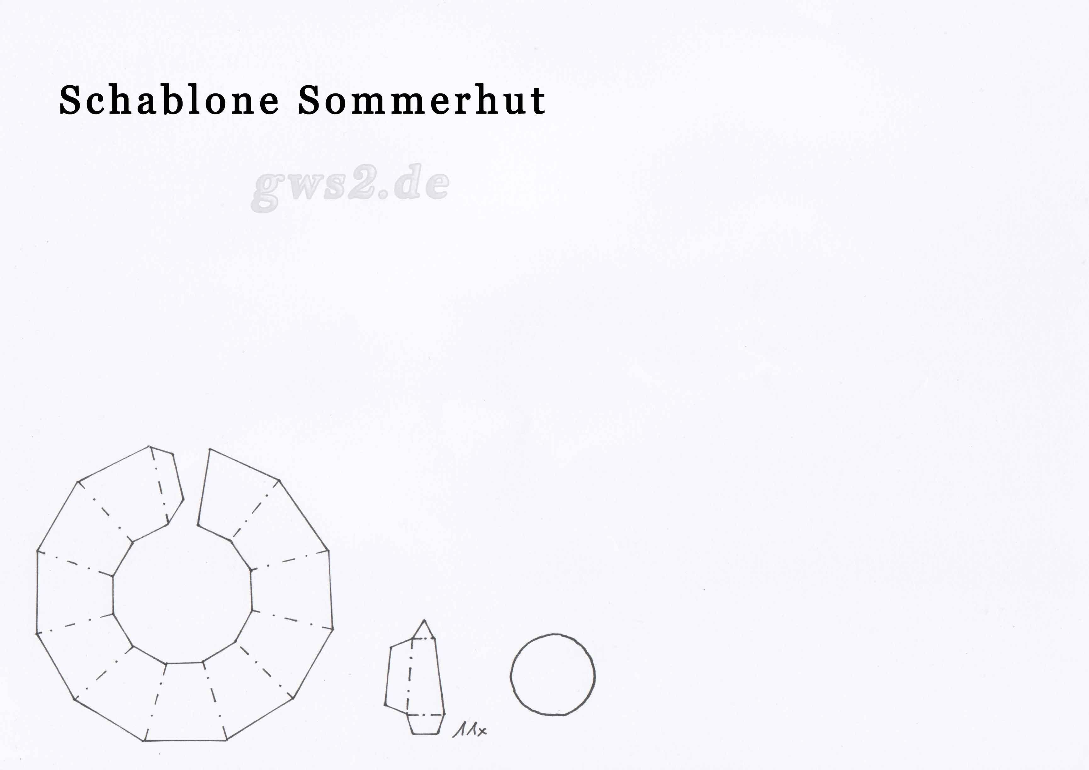 Sommerhut aus Papier: Paper Sommerhat - Tutorial [HD ... - photo#32