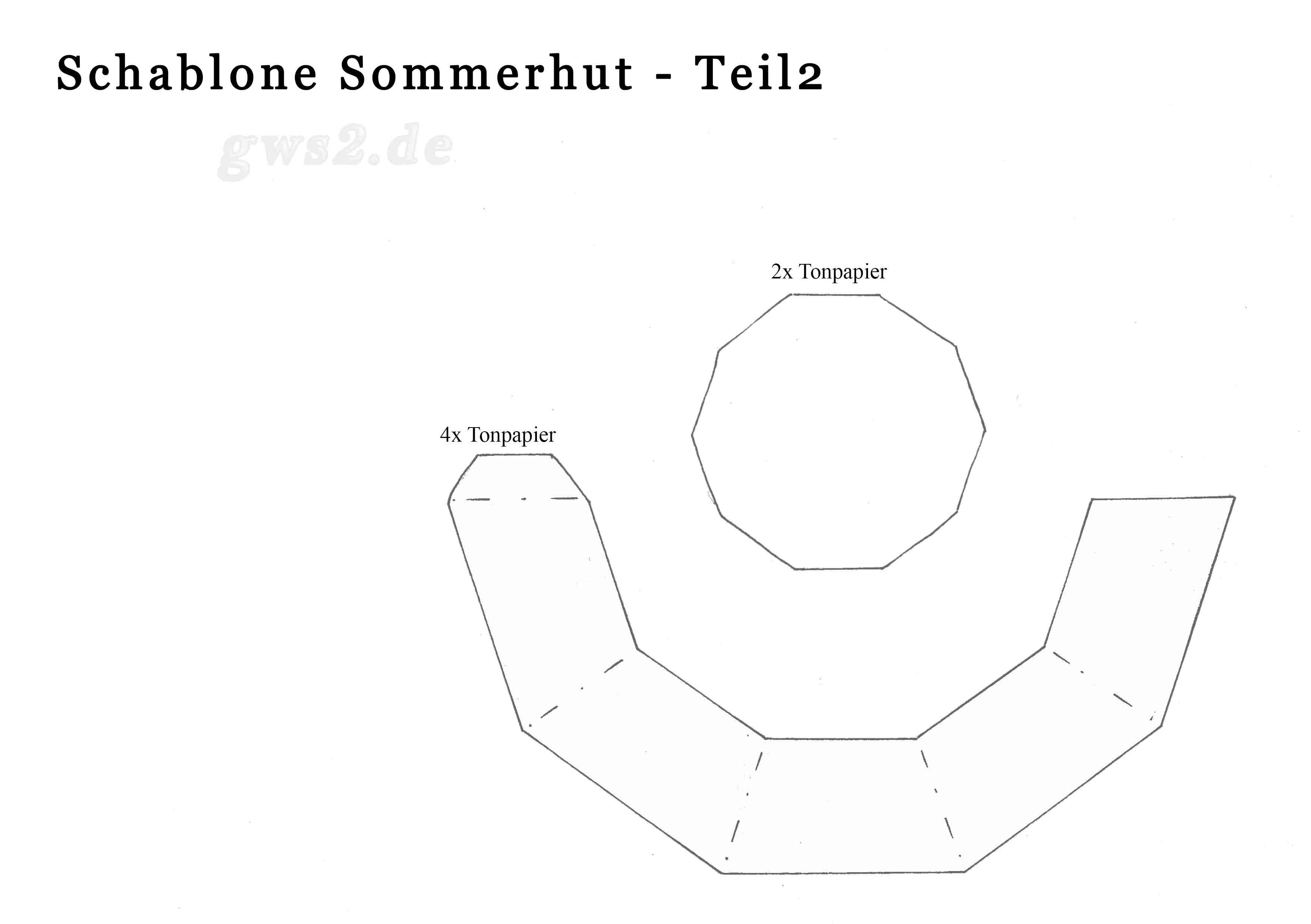 Beliebt Sommerhut aus Papier basteln - Anleitung und Schablonen LX88