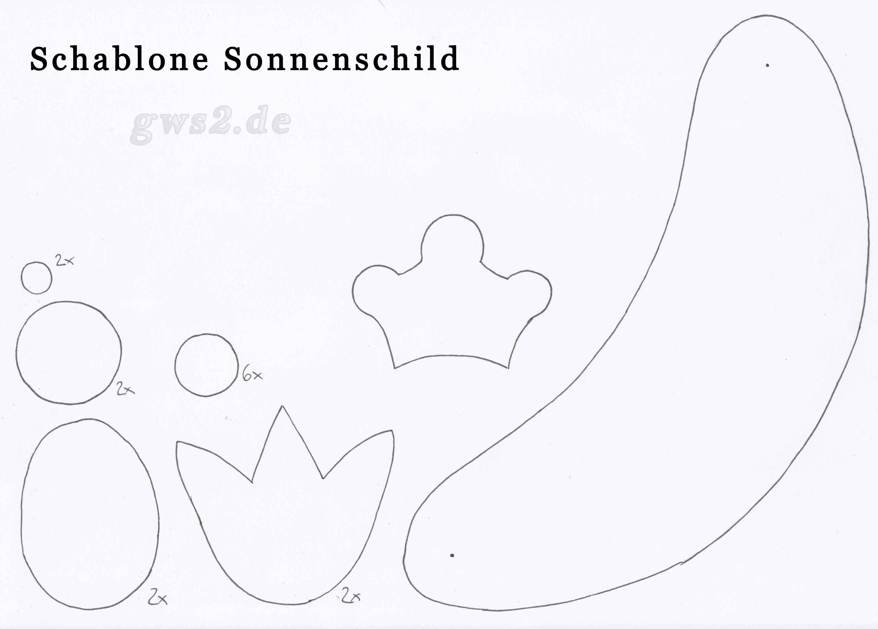 Bild von Schablone fürs Sonnenschild