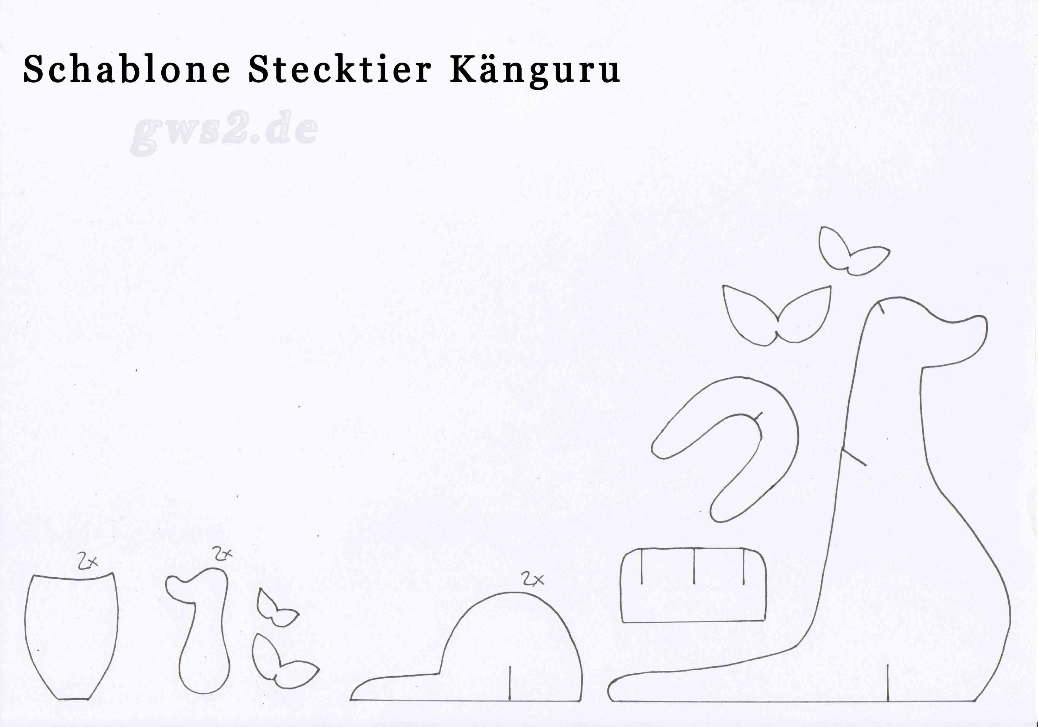 Känguru basteln - Anleitung für kleines Stecktier