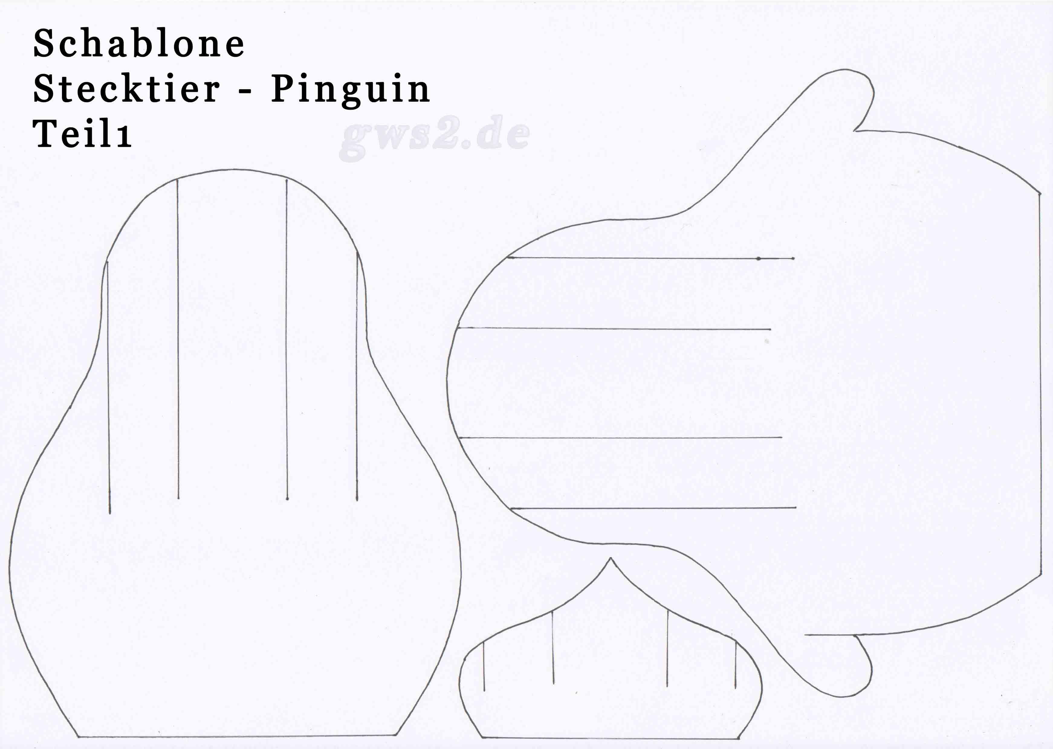 pinguin aus papier basteln stecktier. Black Bedroom Furniture Sets. Home Design Ideas