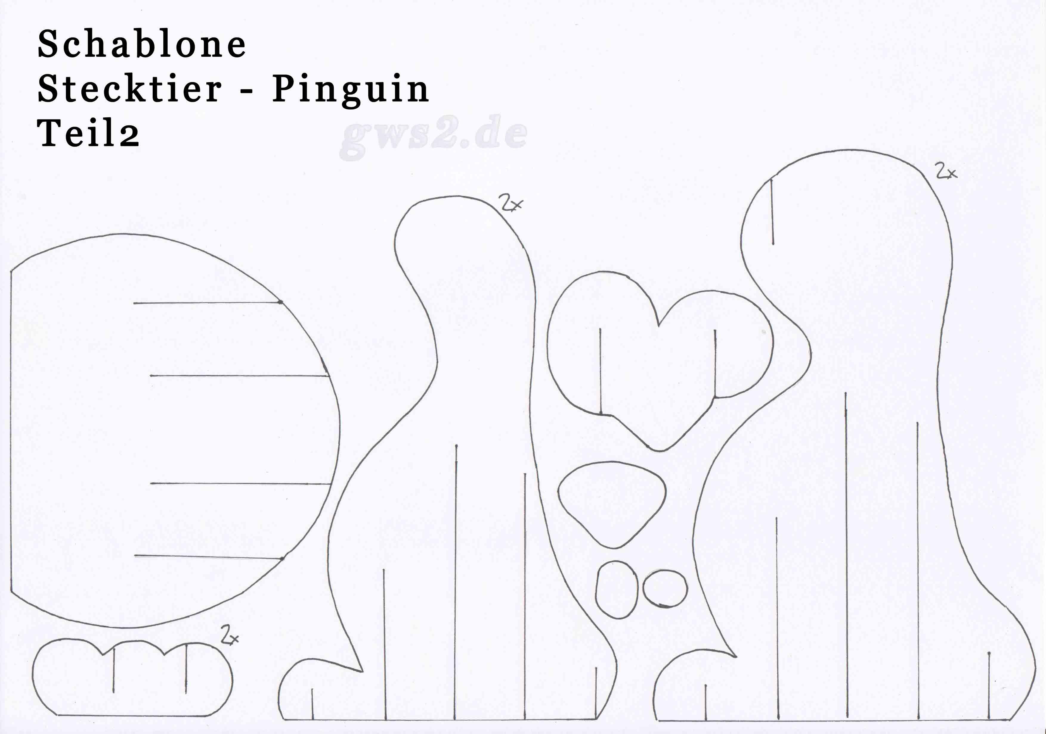 Pinguin aus papier basteln stecktier for Scha ne bilder zum ausdrucken