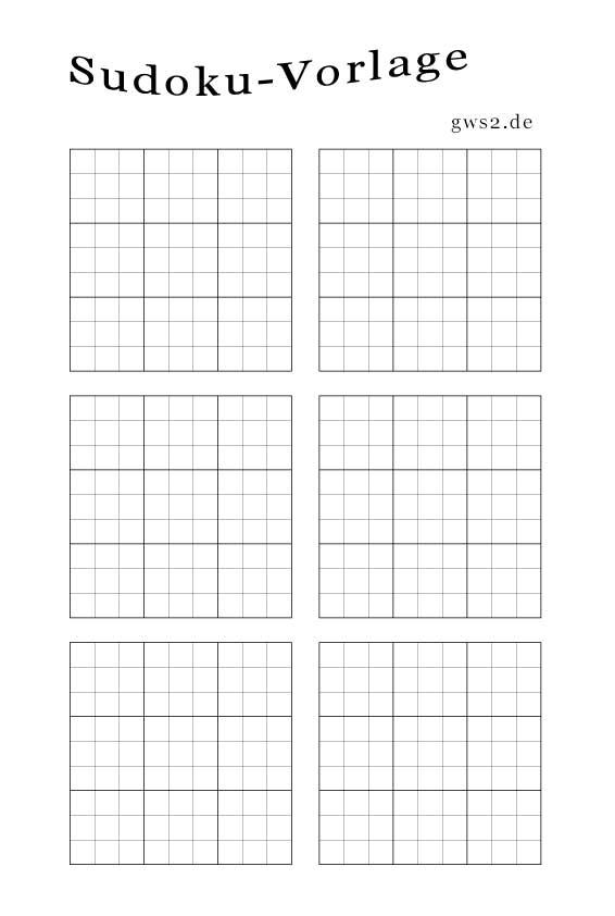 Sudoku Blanko