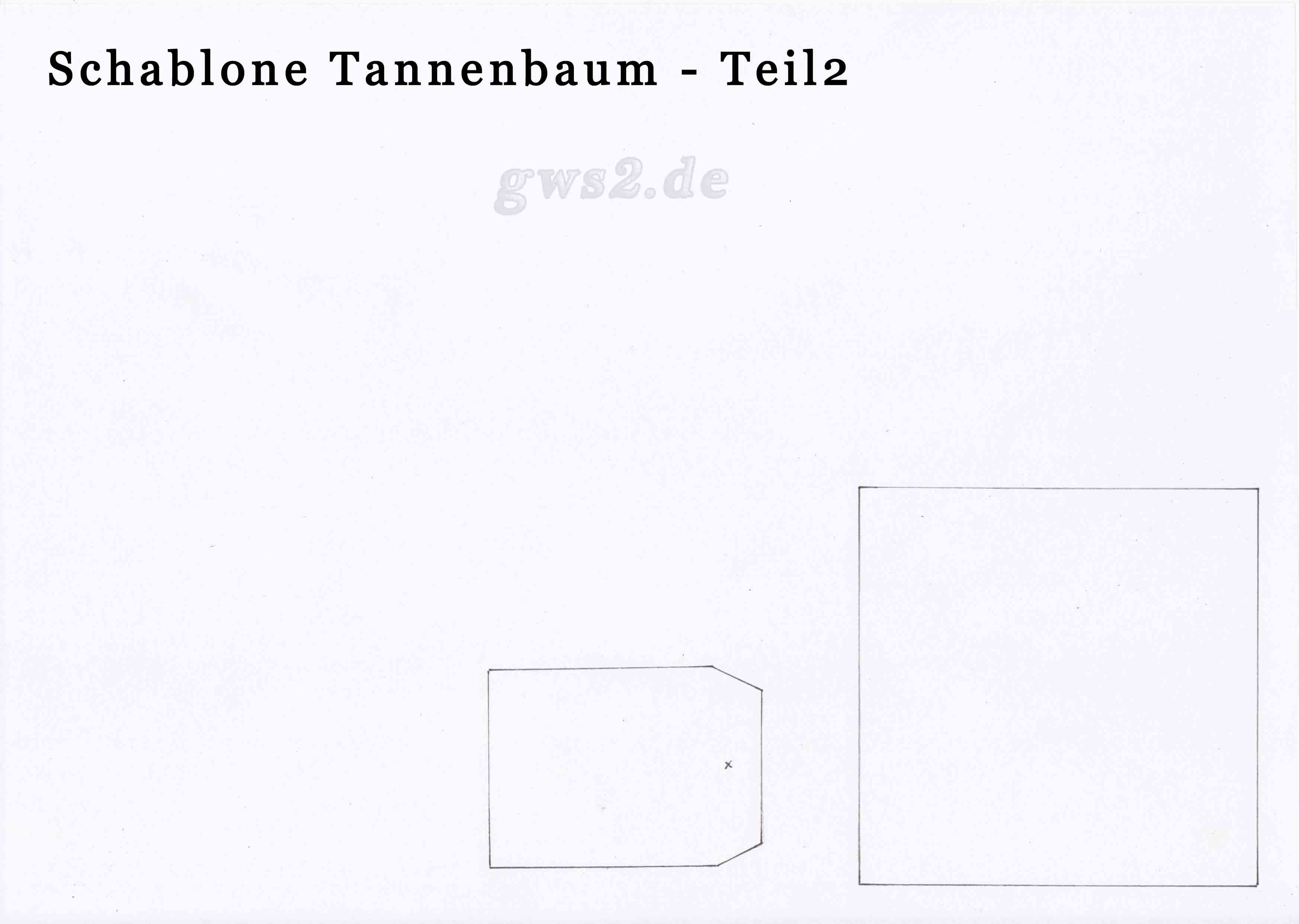Tannenbaum als Geschenkverpackung basteln