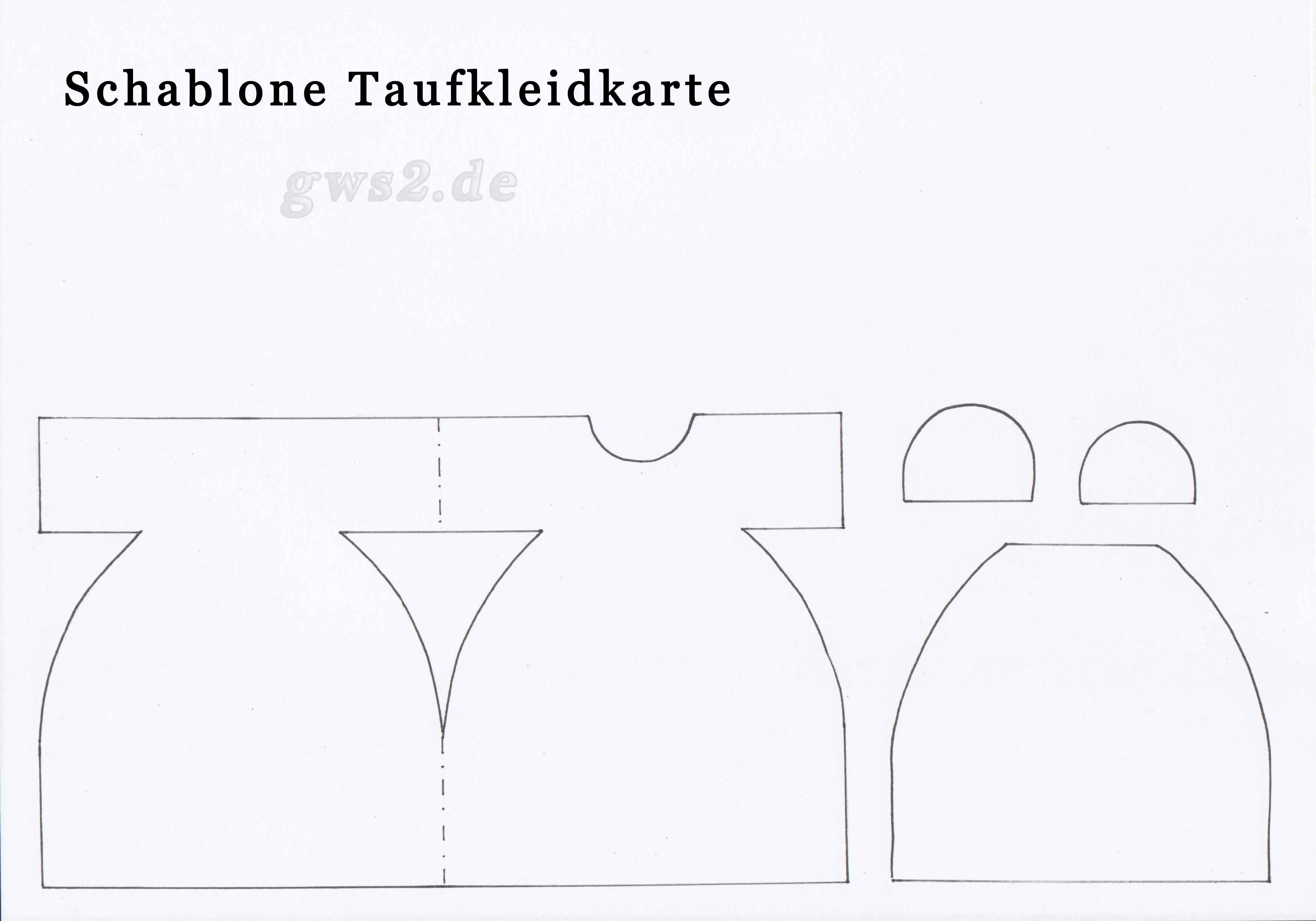 Vorschaubild Taufkarte Schablone