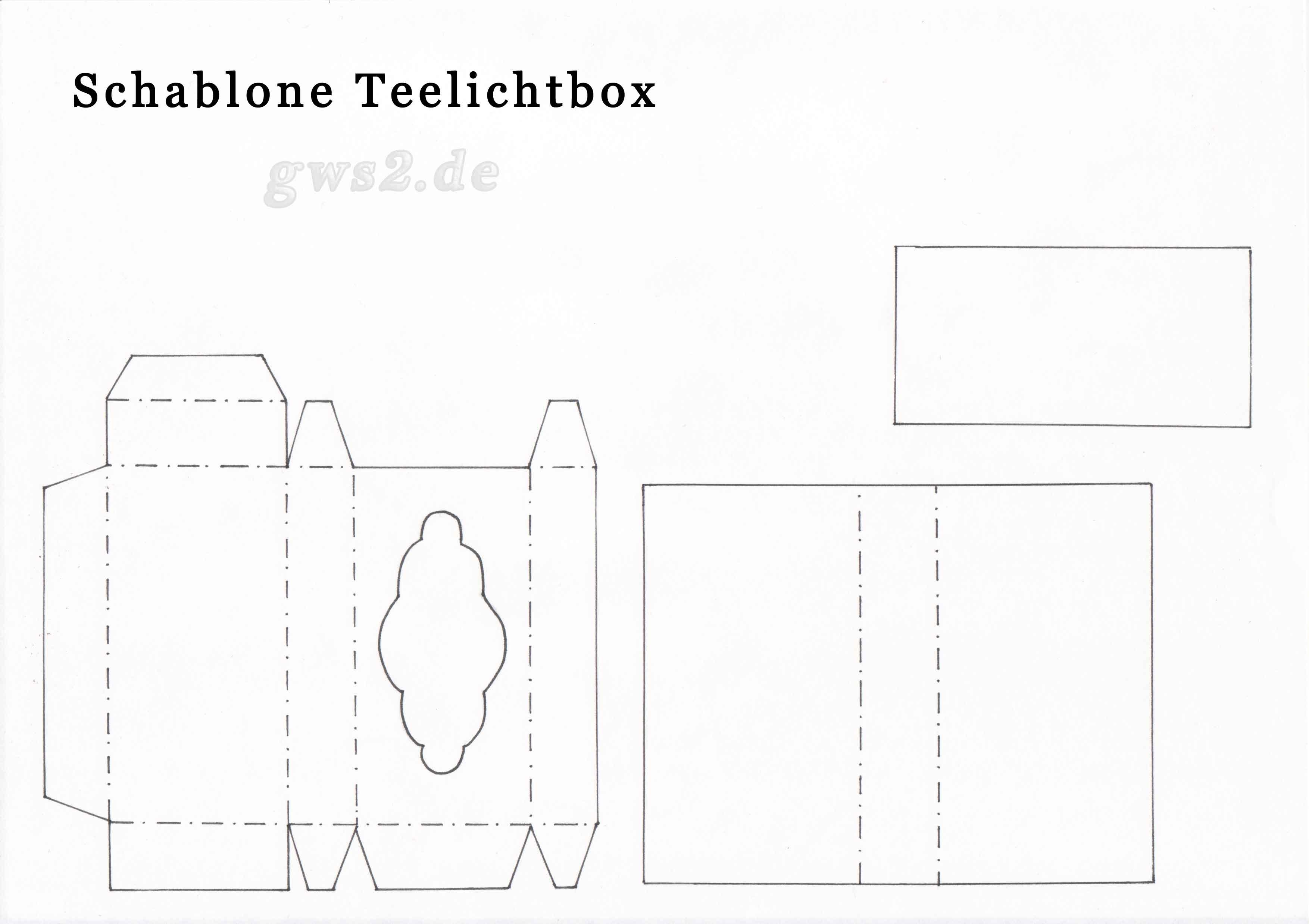 Schablone Teelichtbox
