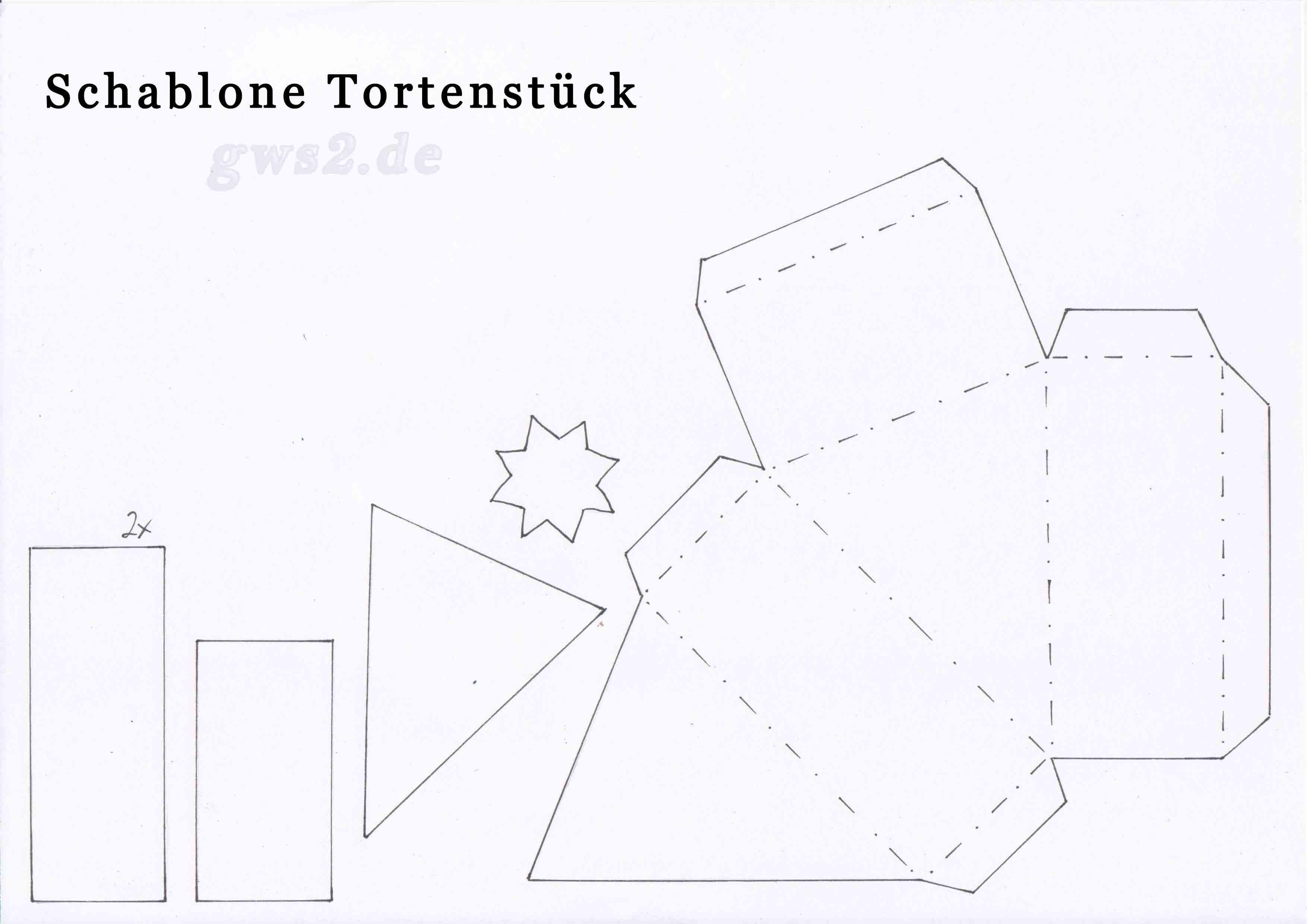 Papiertorte basteln - Anleitung und Schablone