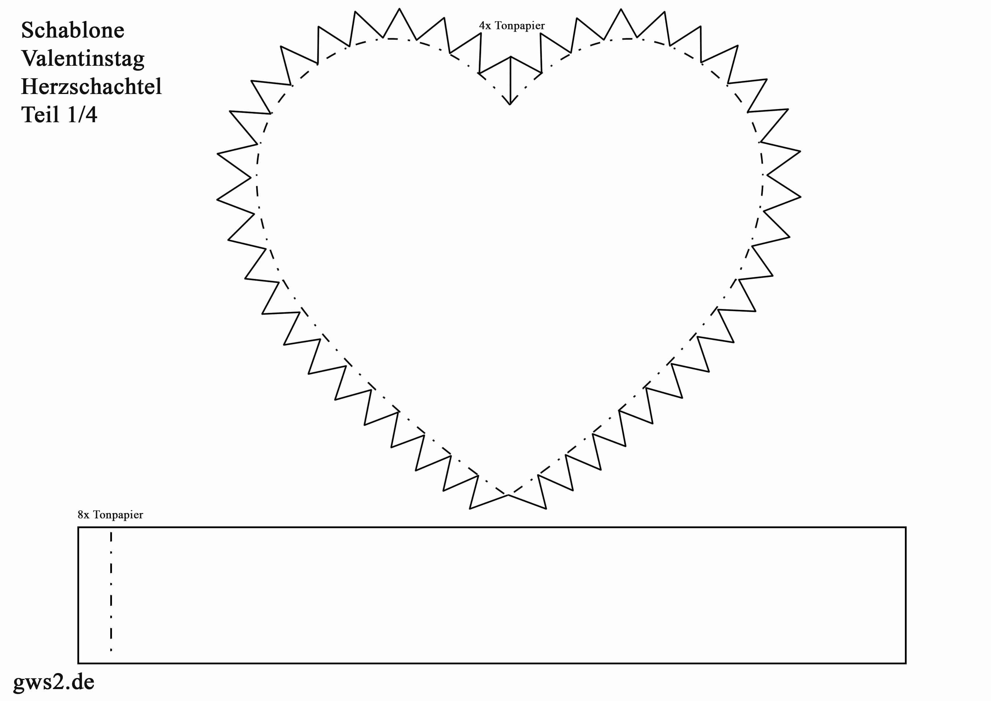 Herzschachtel für den Valentinstag basteln - Anleitung